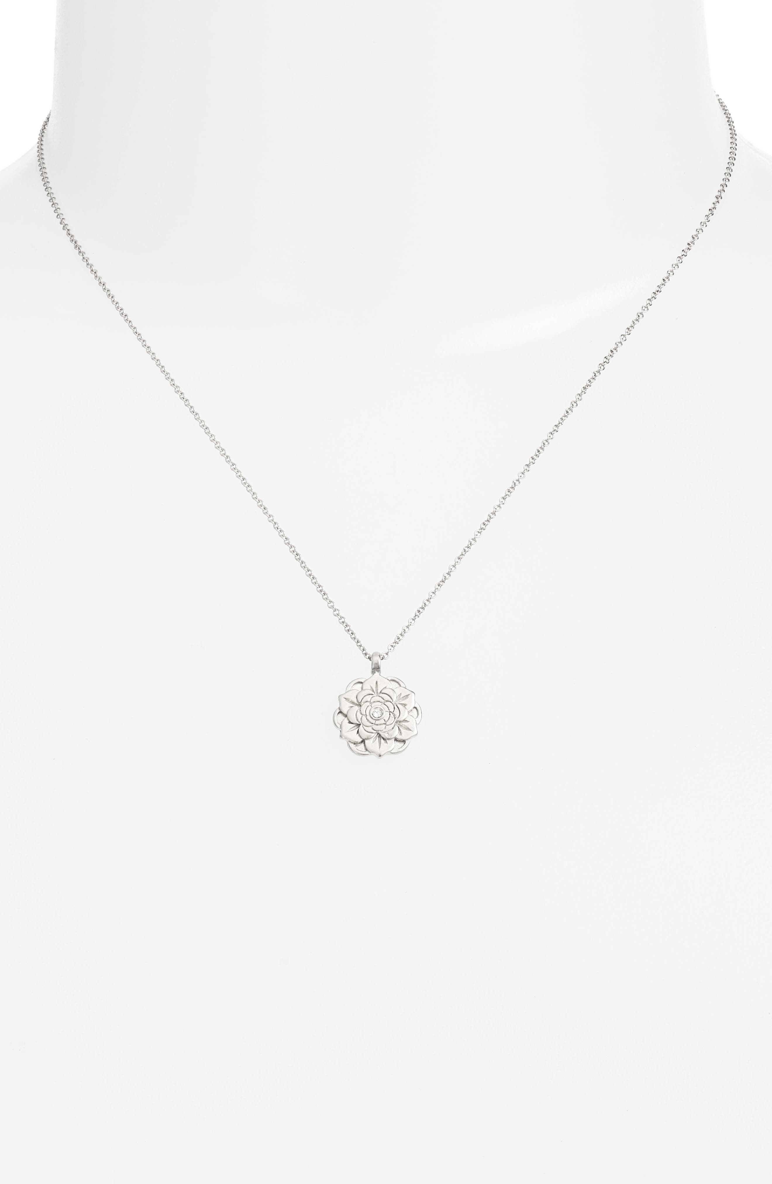 Alternate Image 2  - Dogeared Beautiful Beginnings Lotus Pendant Necklace