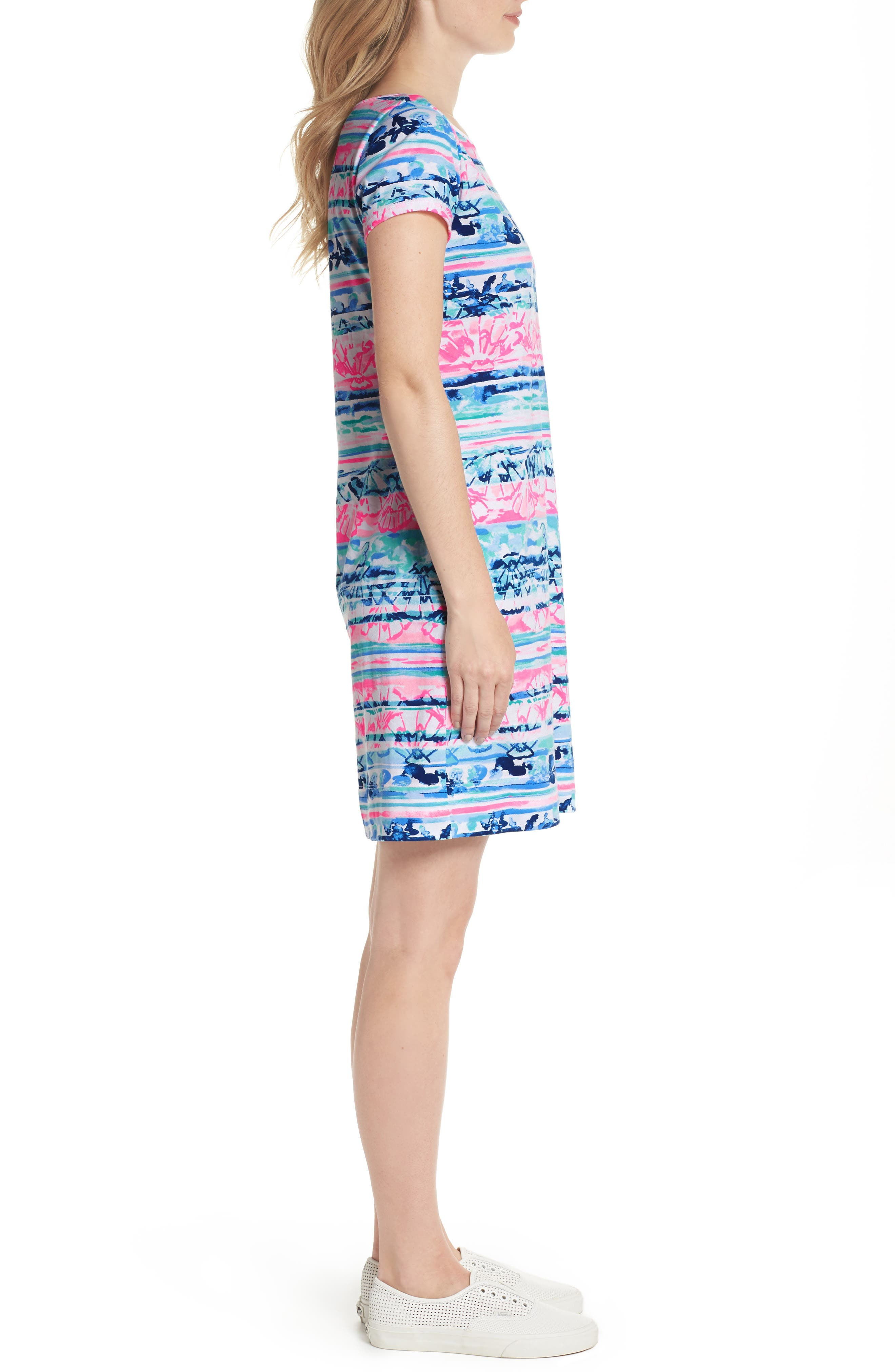 Marlowe T-Shirt Dress,                             Alternate thumbnail 3, color,                             Multi A Wave From It