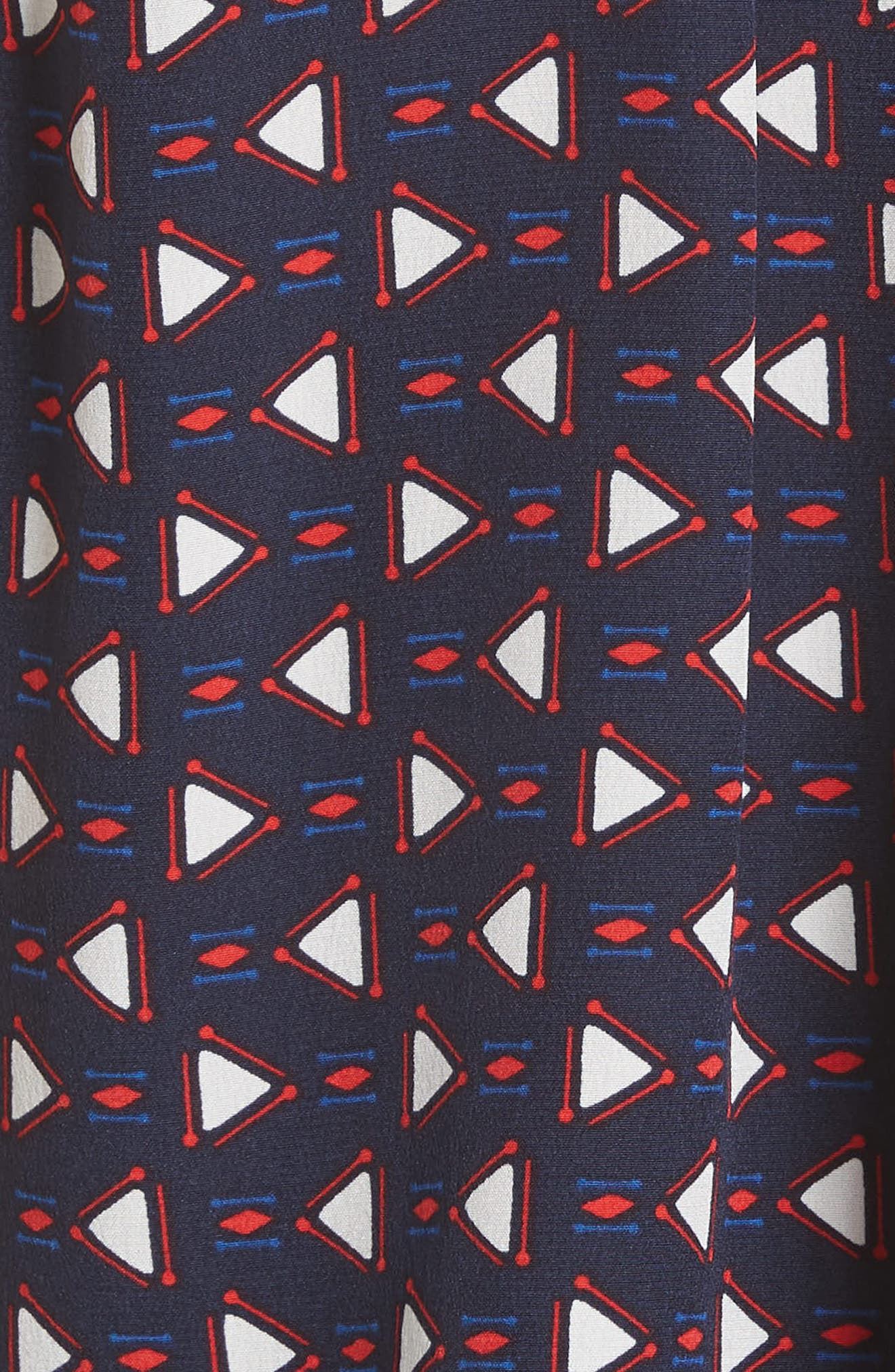 Xandry B Silk Top,                             Alternate thumbnail 3, color,                             Dark Navy