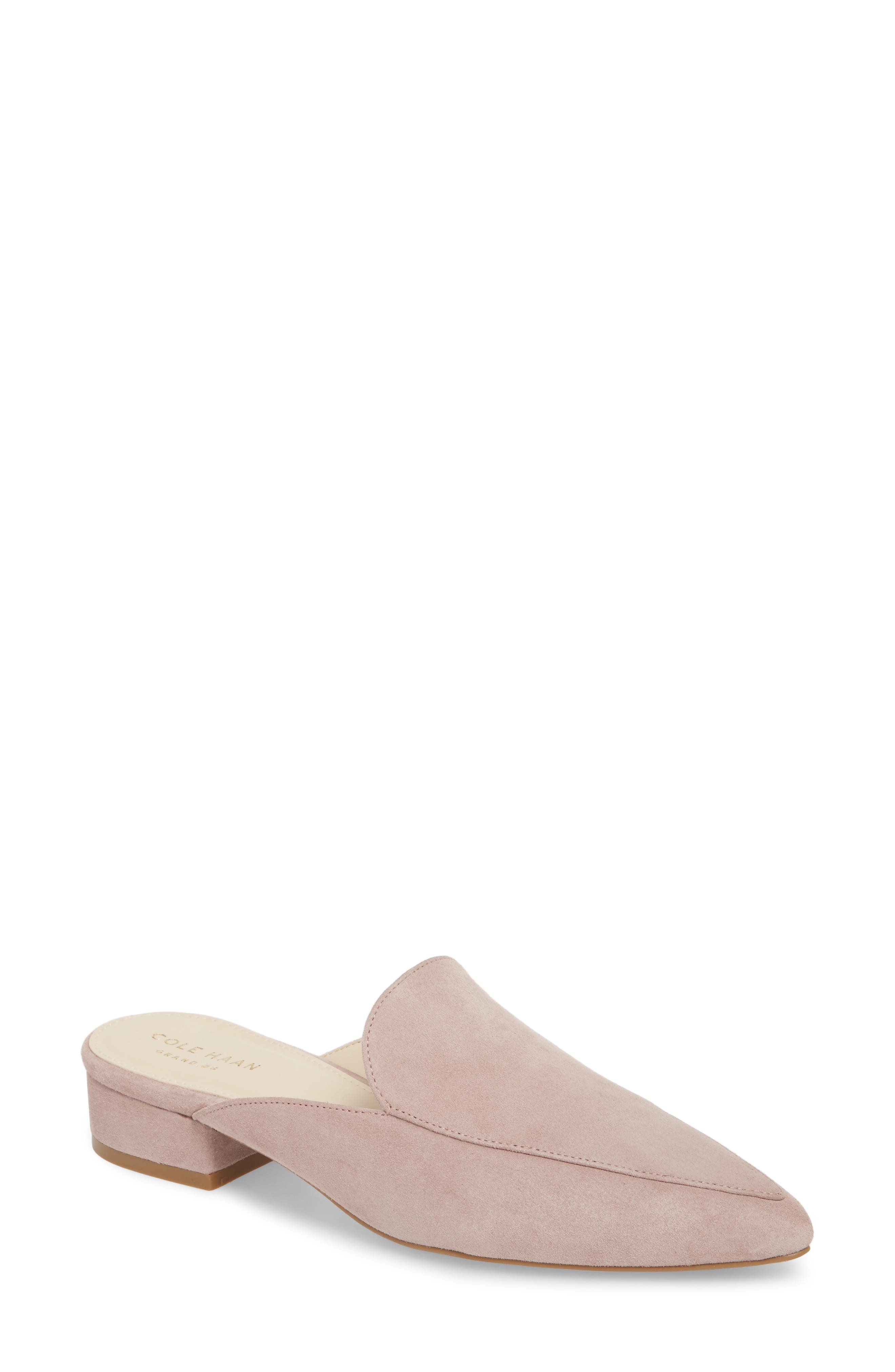 Piper Loafer Mule,                             Main thumbnail 1, color,                             Twilight Mauve Suede