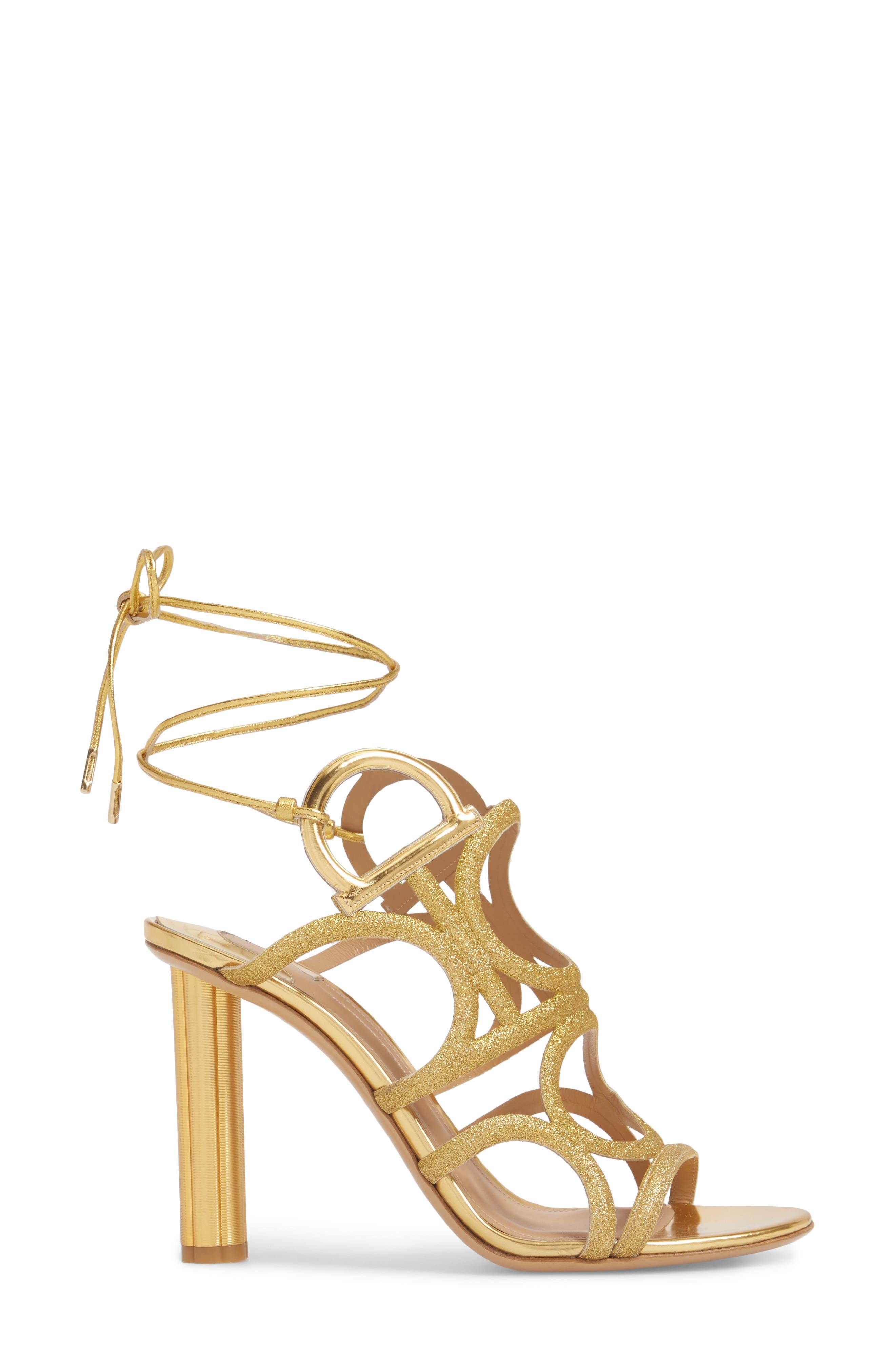 Vinci Lace-Up Sandal,                             Alternate thumbnail 3, color,                             Gold