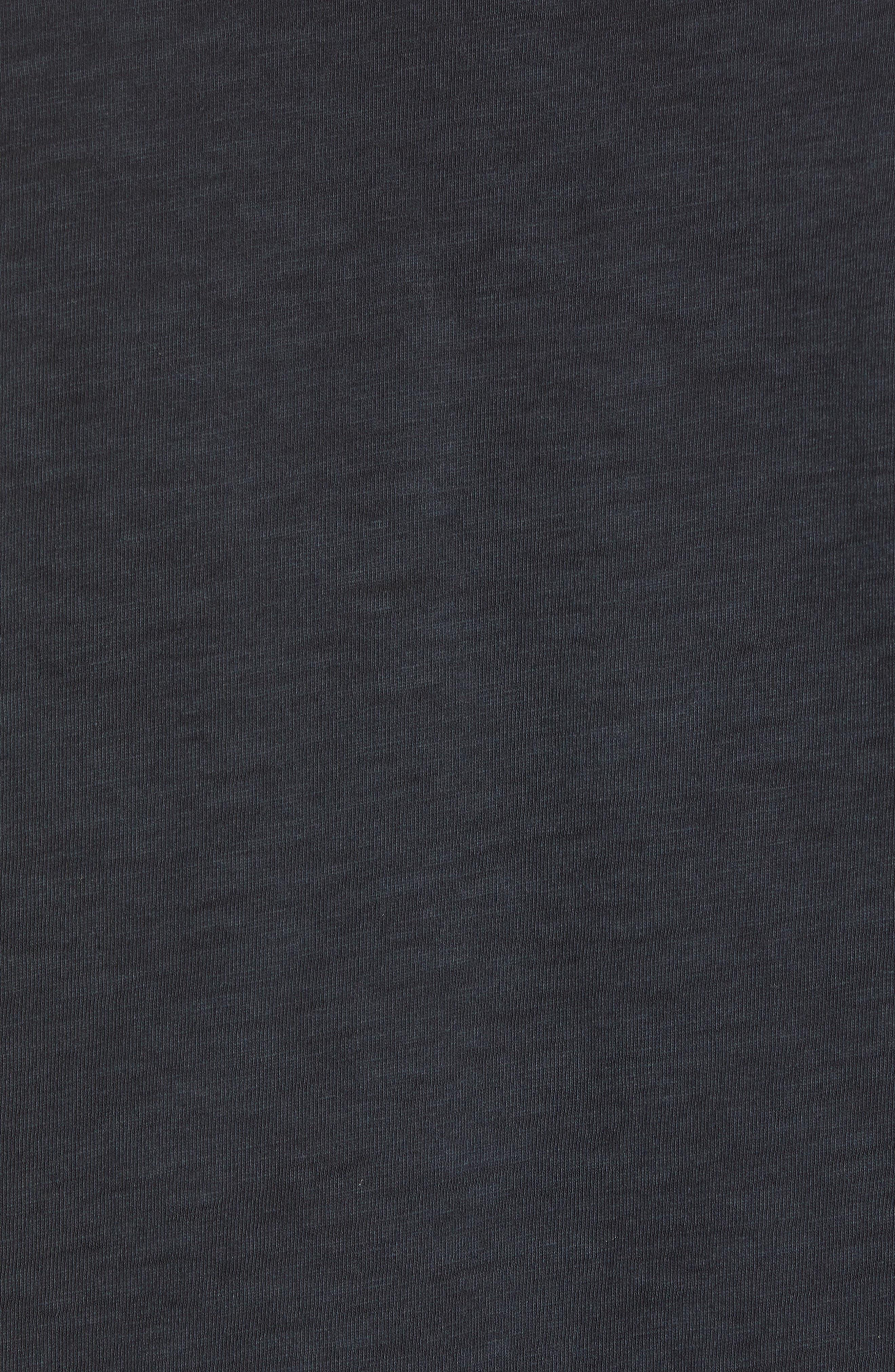 Upside Down Crewneck T-Shirt,                             Alternate thumbnail 5, color,                             Washed Black