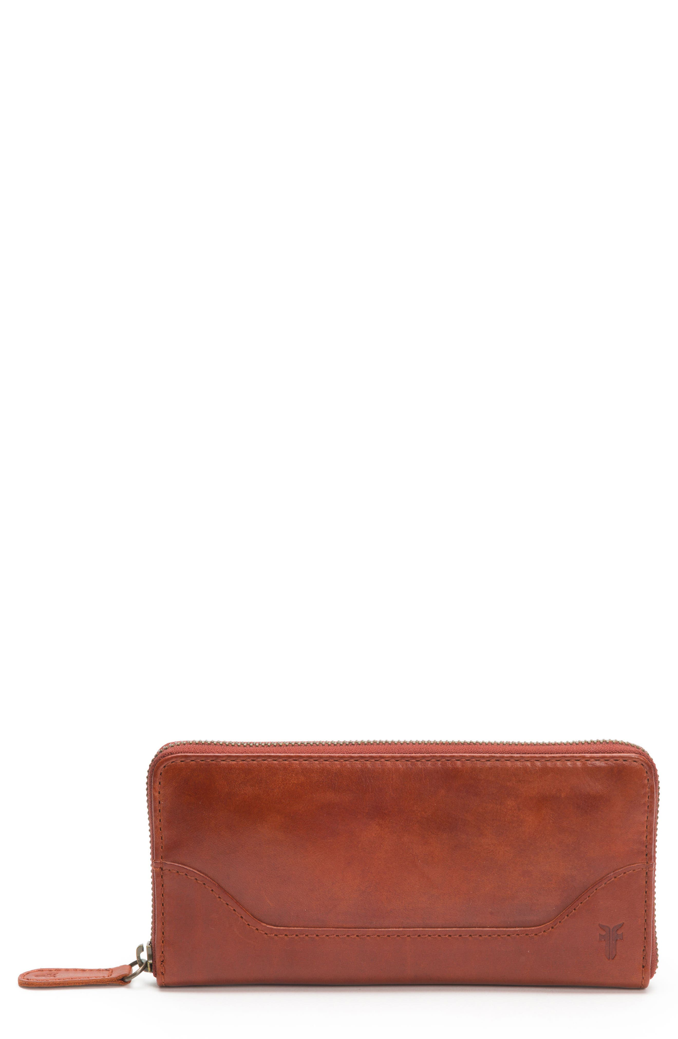 Melissa Leather Wallet,                             Main thumbnail 1, color,                             Red Clay