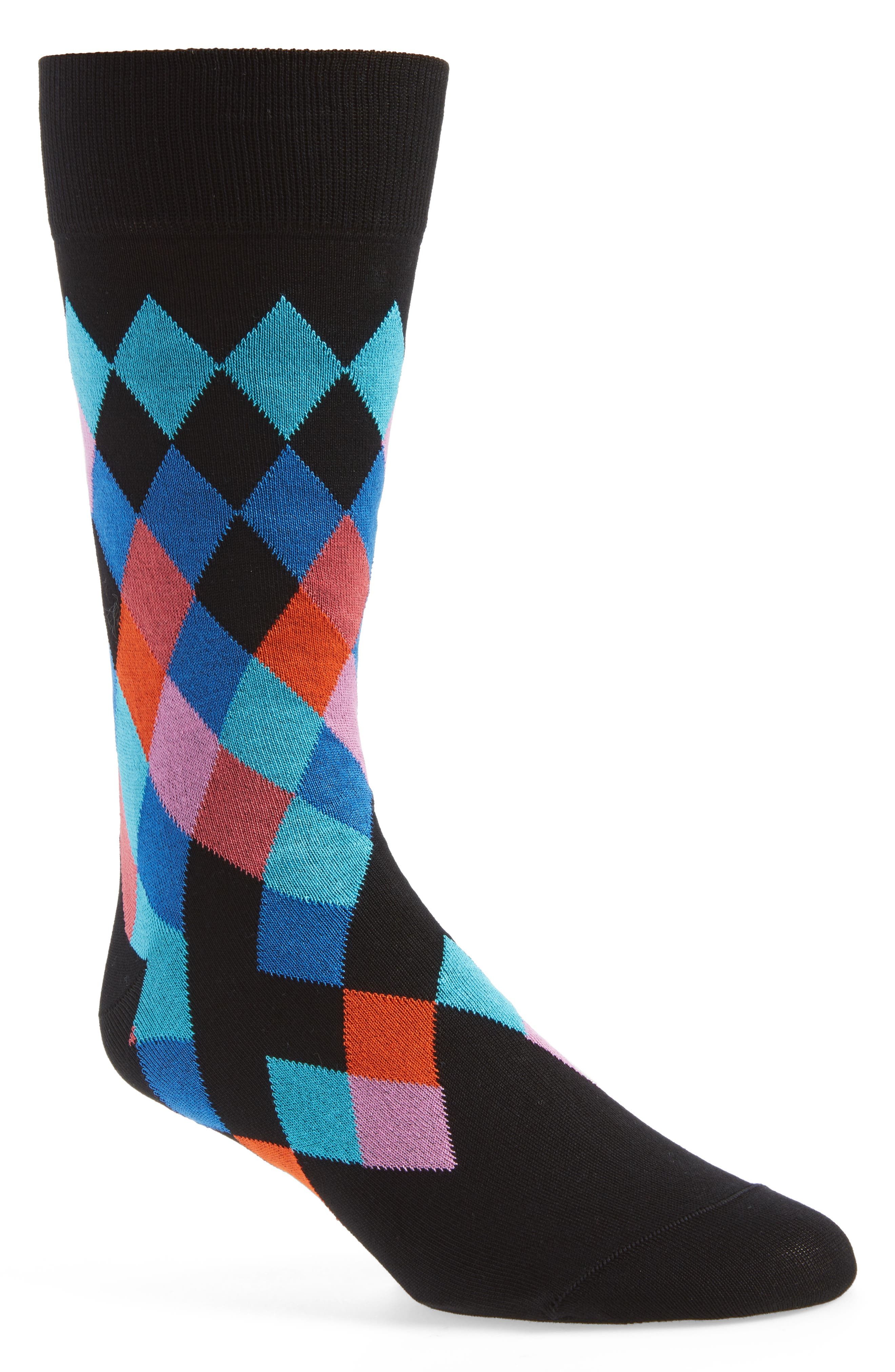 Cotton Blend Socks,                         Main,                         color, Midnight