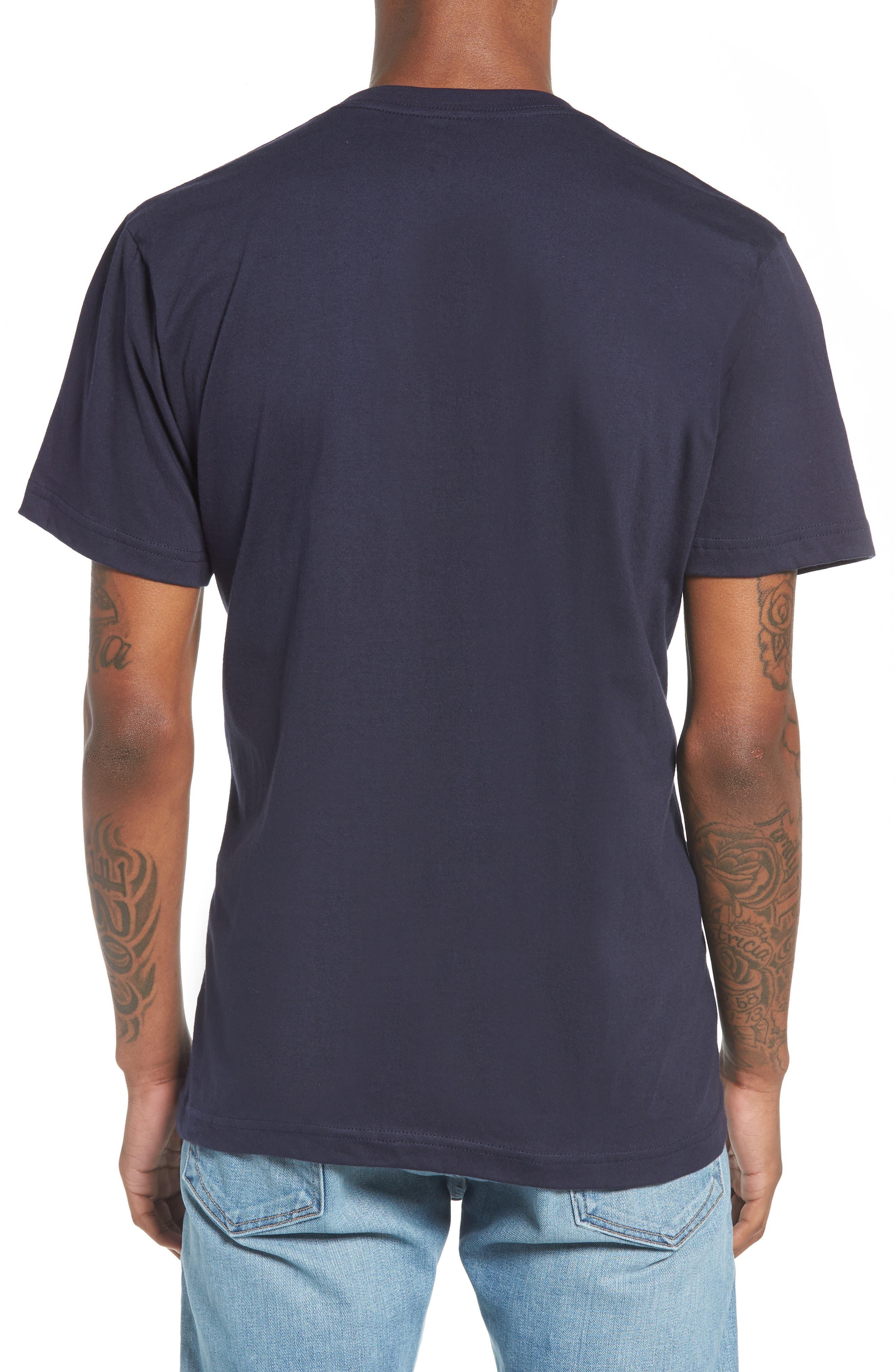 Brooklyn Bridge Graphic T-Shirt,                             Alternate thumbnail 2, color,                             Navy