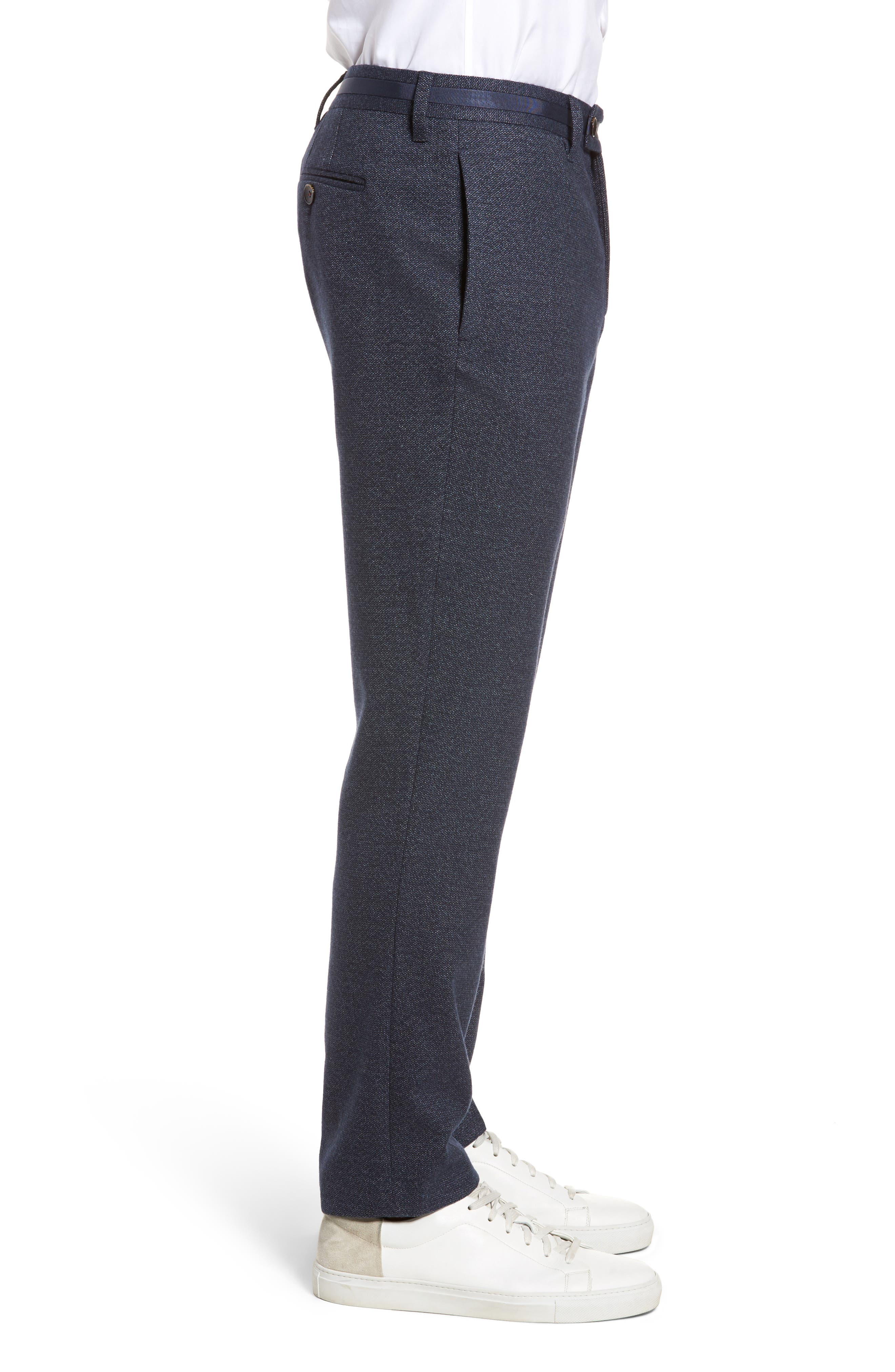 Alternate Image 3  - Ted Baker London Clifrot Flat Front Stretch Solid Cotton Pants