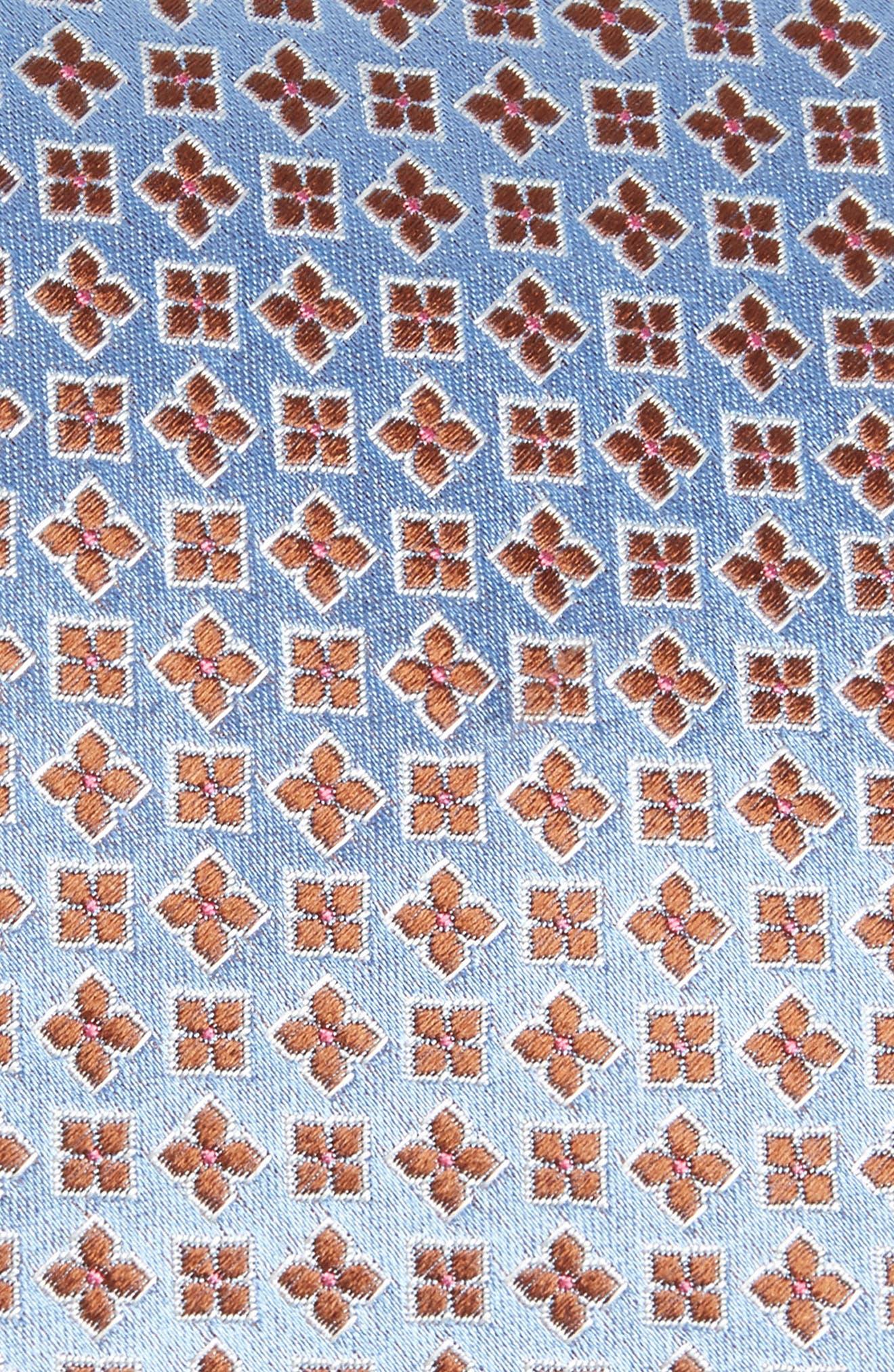 Neat Floral Silk Tie,                             Alternate thumbnail 2, color,                             Light Blue