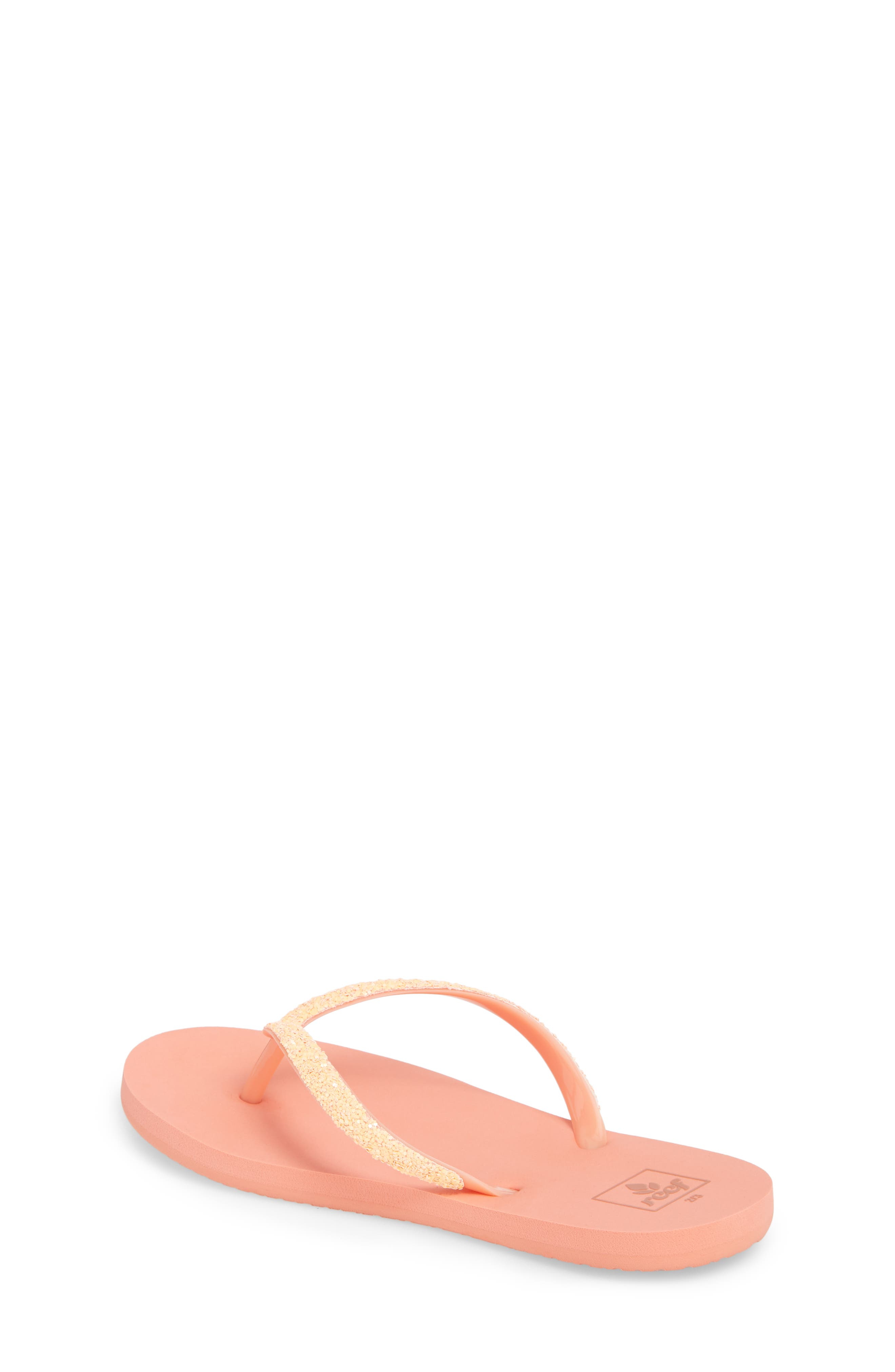 Little Stargazer Glitter Sandal,                             Alternate thumbnail 2, color,                             Orange