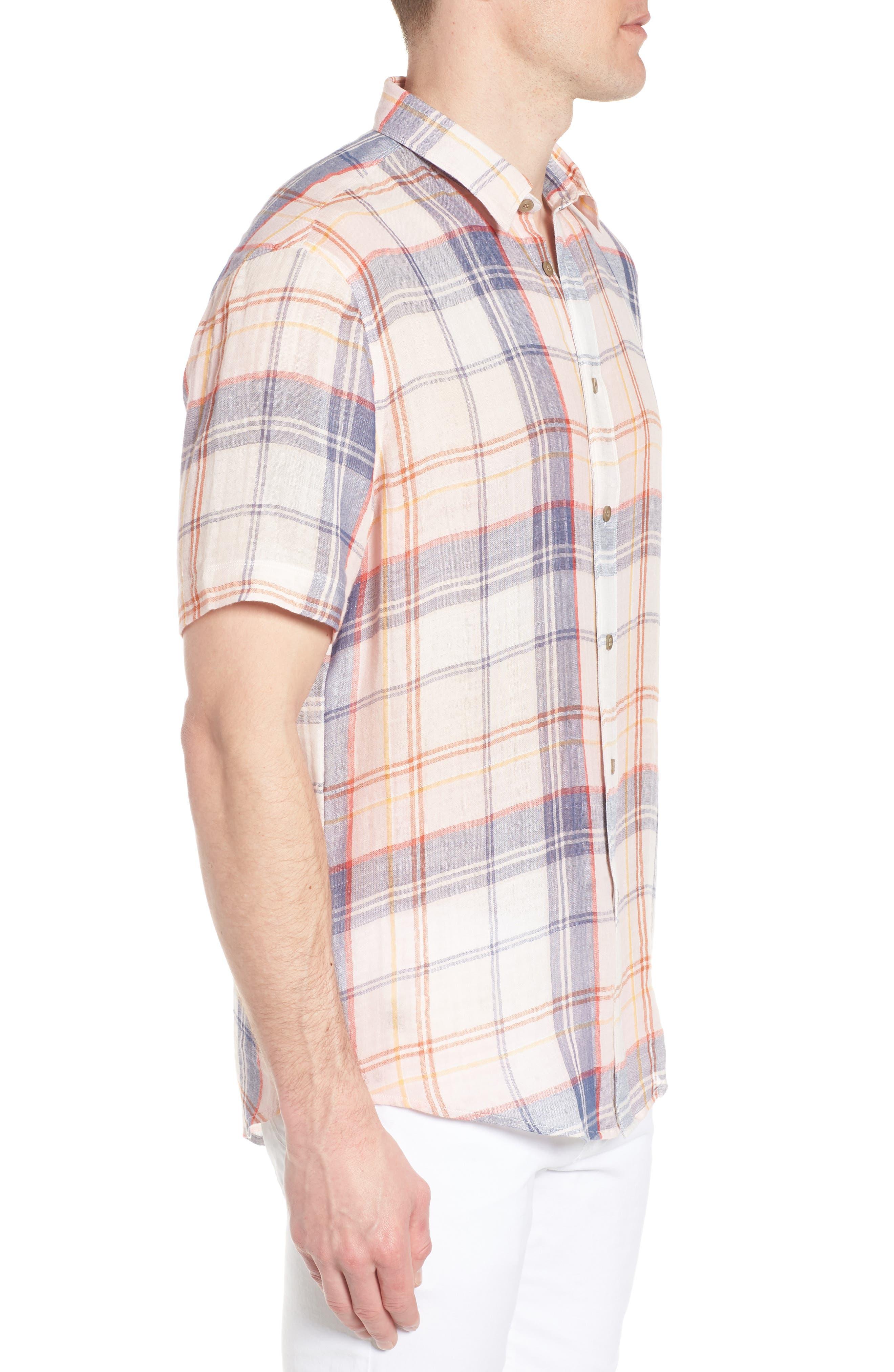 Tradewinds Regular Fit Short Sleeve Sport Shirt,                             Alternate thumbnail 4, color,                             Rose