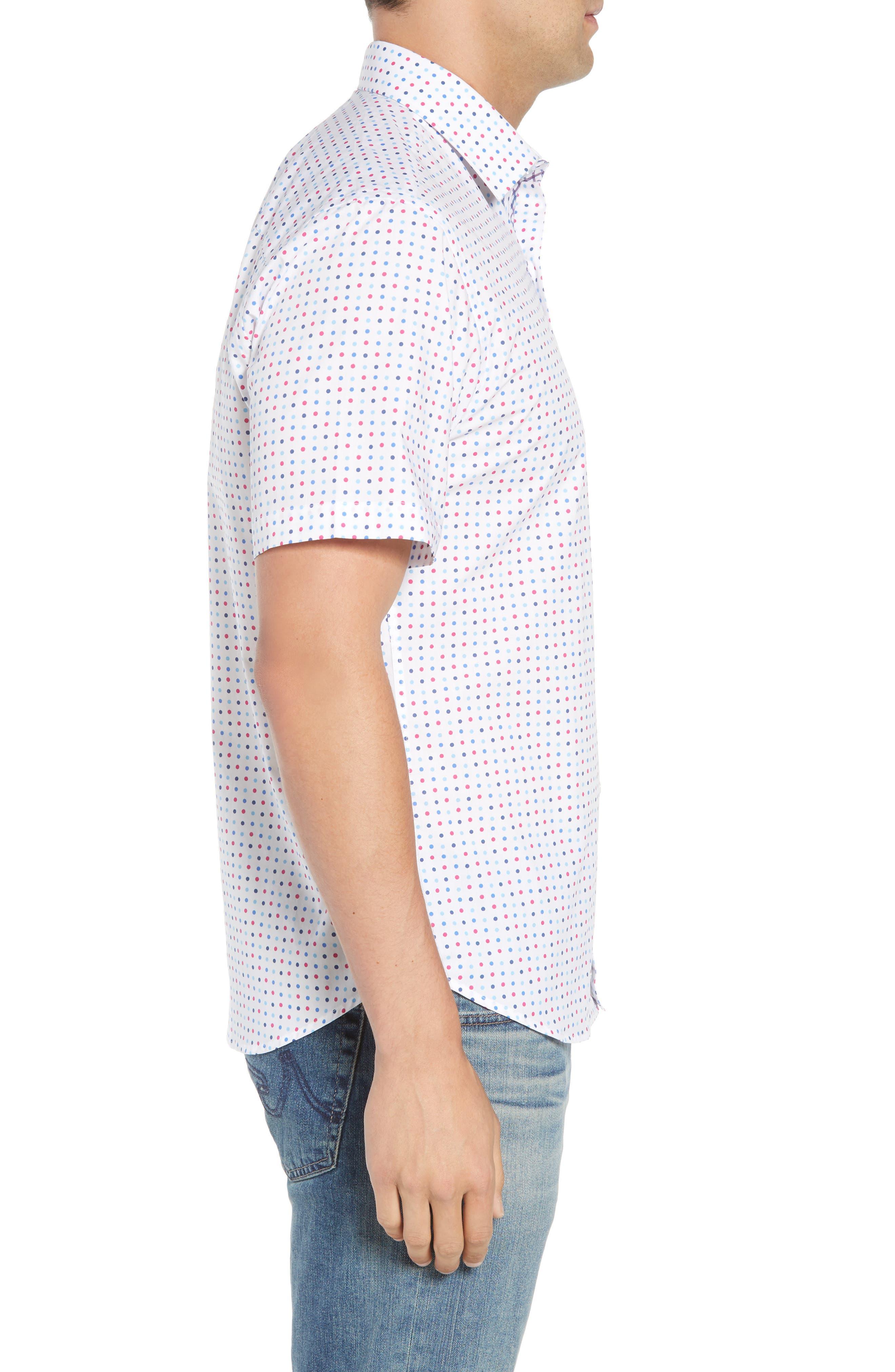 Banning Regular Fit Dot Sport Shirt,                             Alternate thumbnail 4, color,                             White