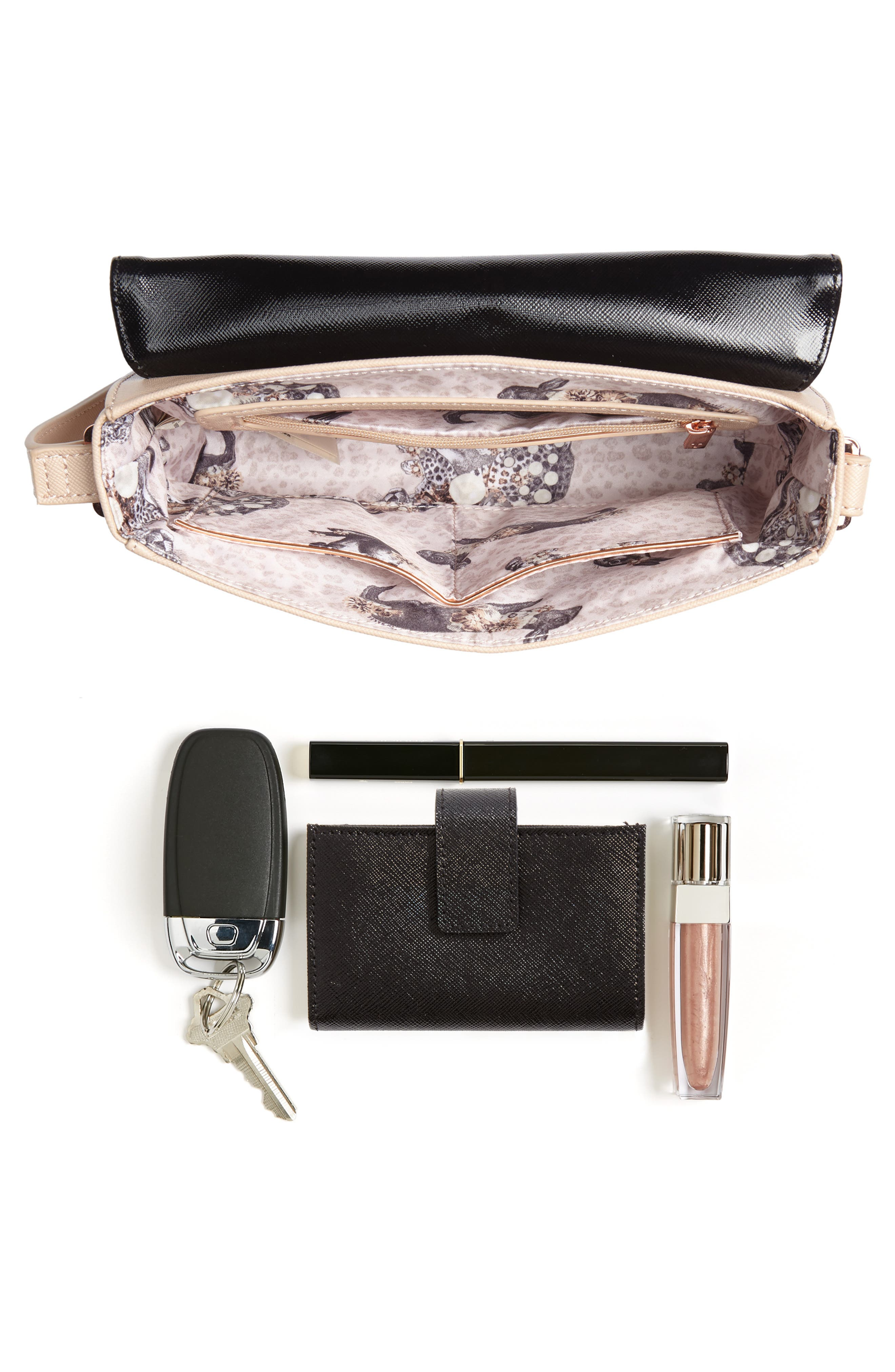 Demonda Faux Leather Crossbody Bag,                             Alternate thumbnail 7, color,