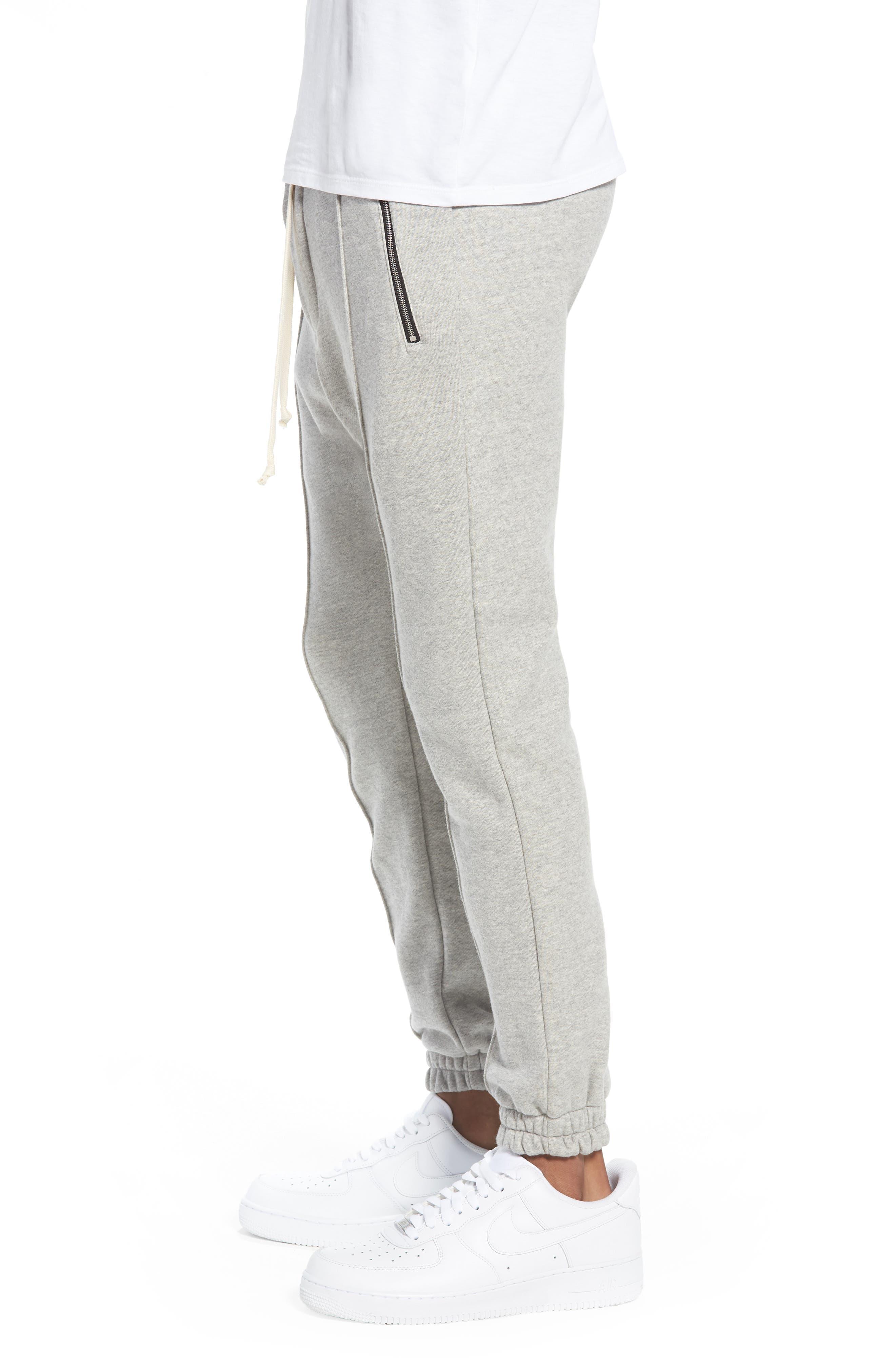 Plaid Jogger Pants,                             Alternate thumbnail 3, color,                             Grey