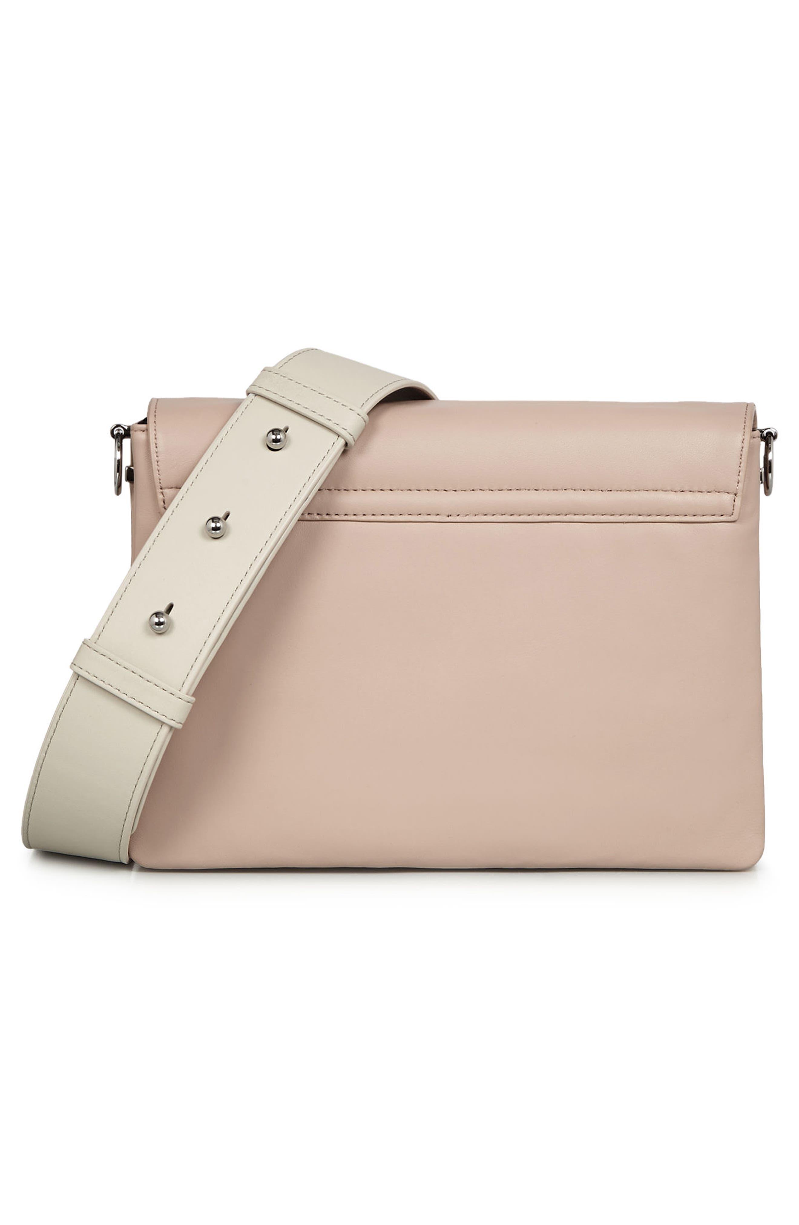 Zep Lambskin Leather Box Bag,                             Alternate thumbnail 2, color,                             Natural