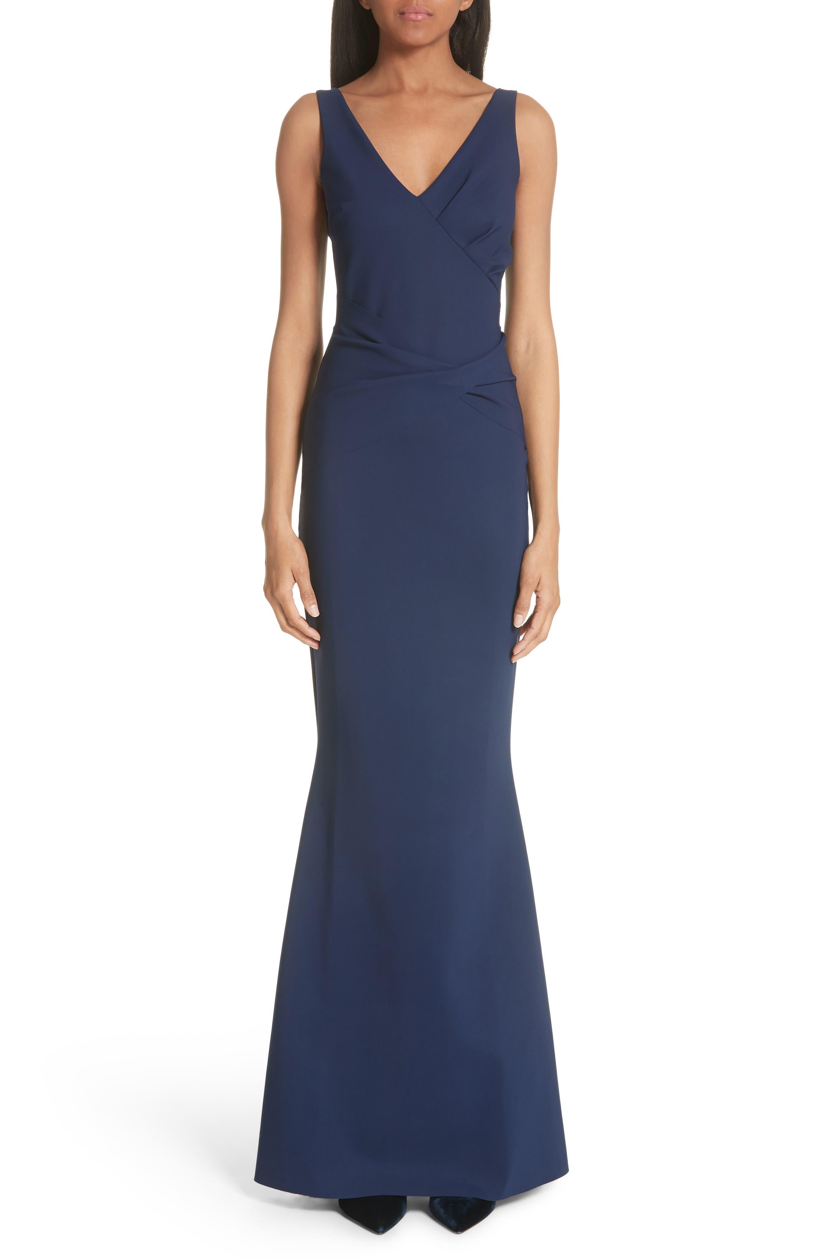 Naktis Trumpet Gown,                         Main,                         color, Blue Notte