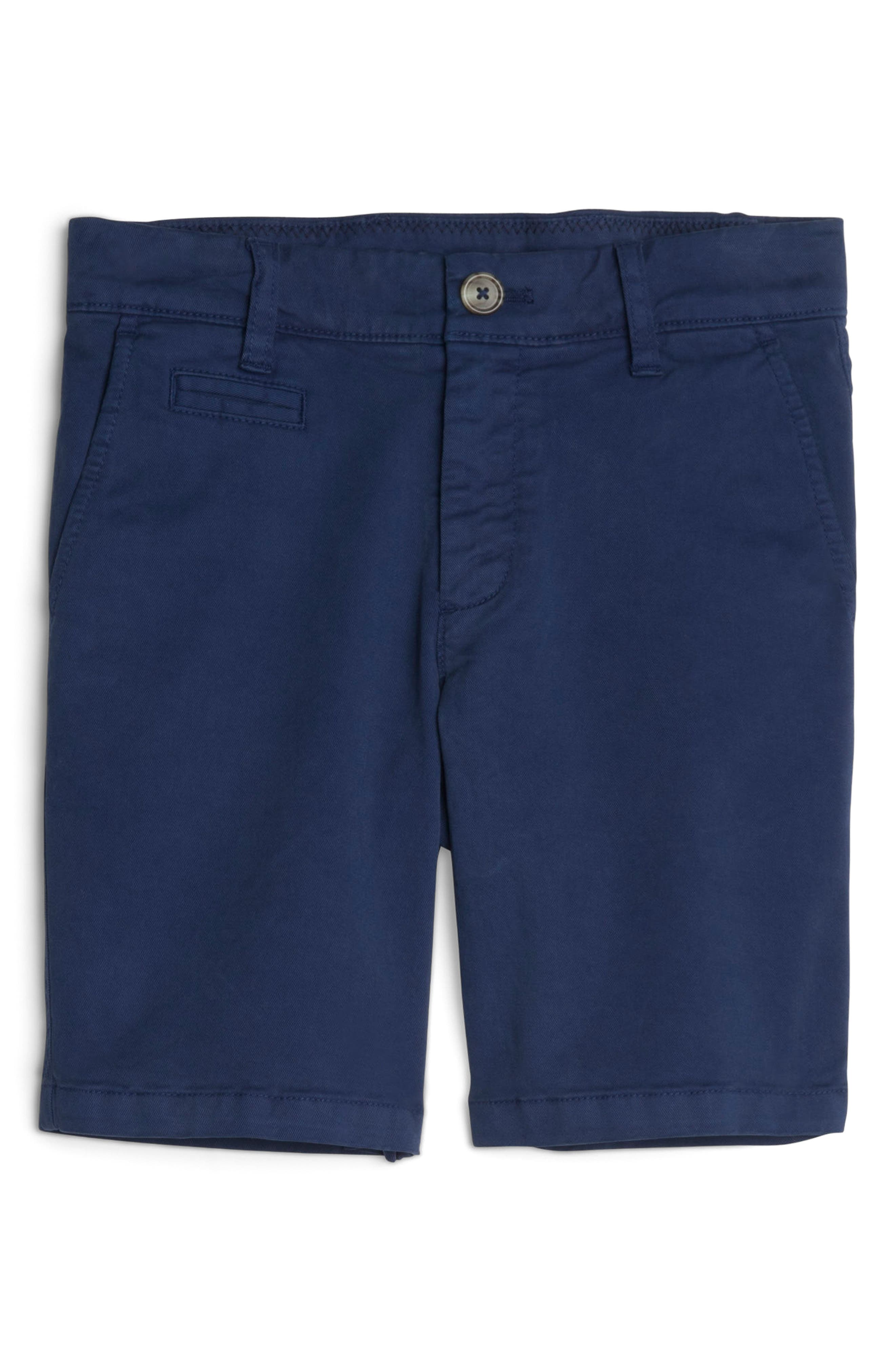 Neal Cotton Twill Shorts,                         Main,                         color, High Tide