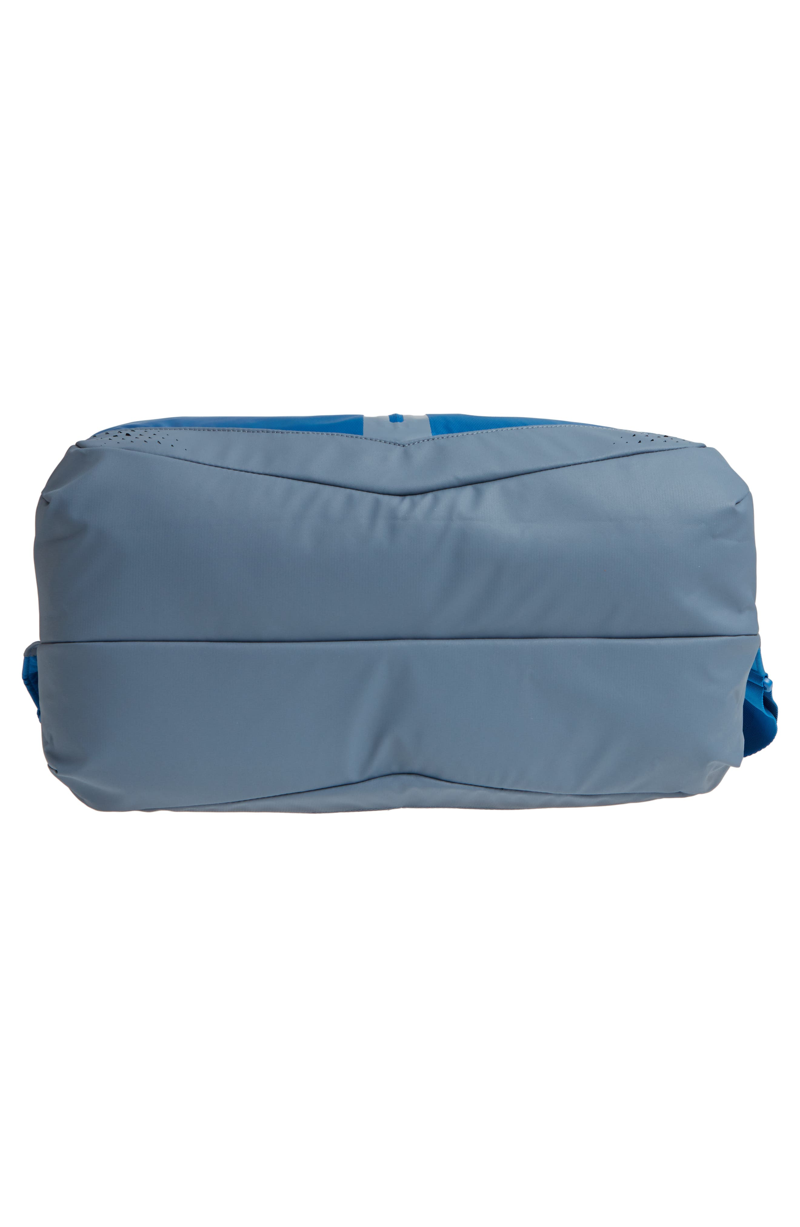 Run Duffel Bag,                             Alternate thumbnail 6, color,                             Blue Jay/ Armory Blue/ Silver