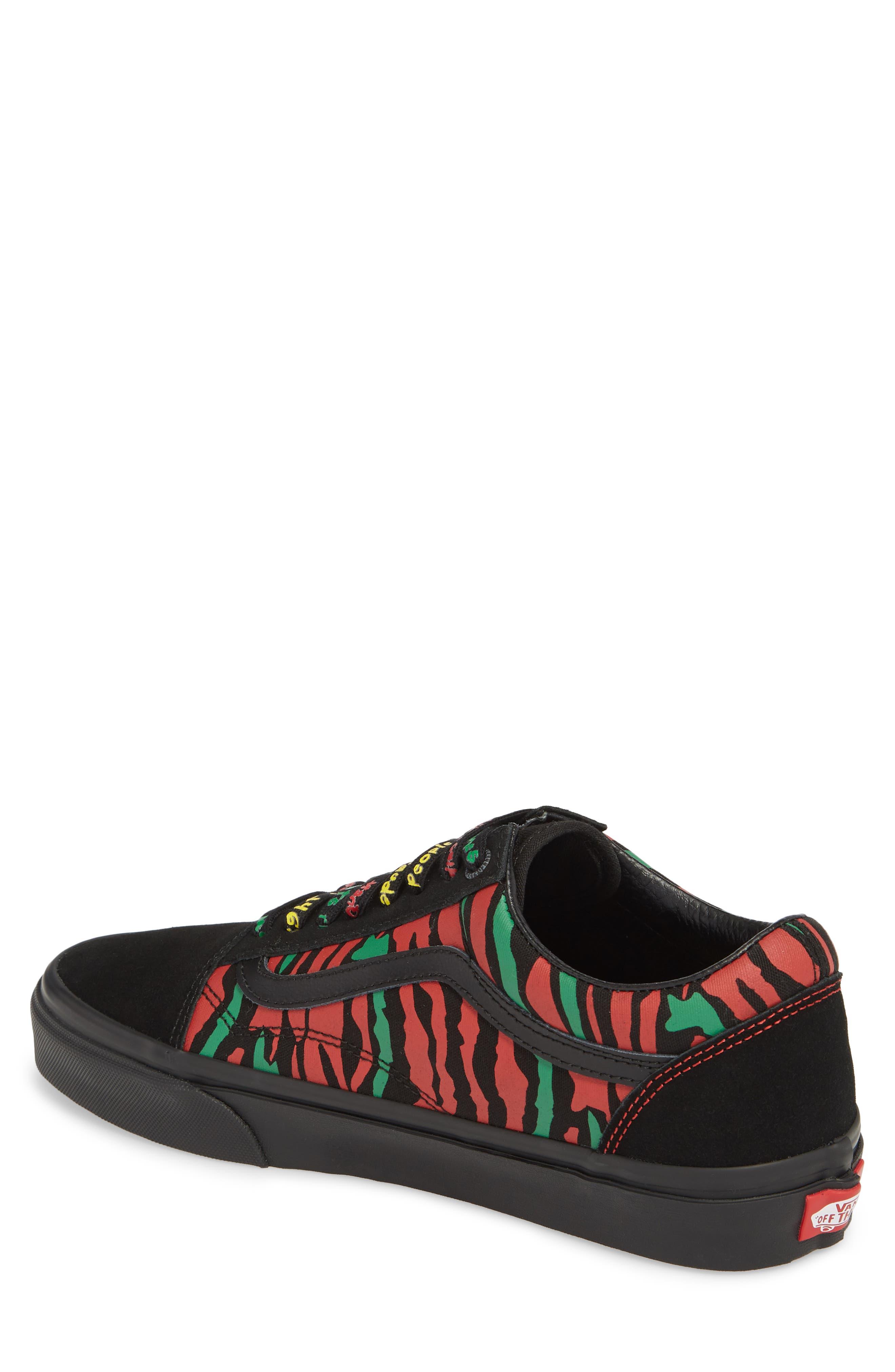 ATCQ Old Skool Sneaker,                             Alternate thumbnail 2, color,                             Black Leather