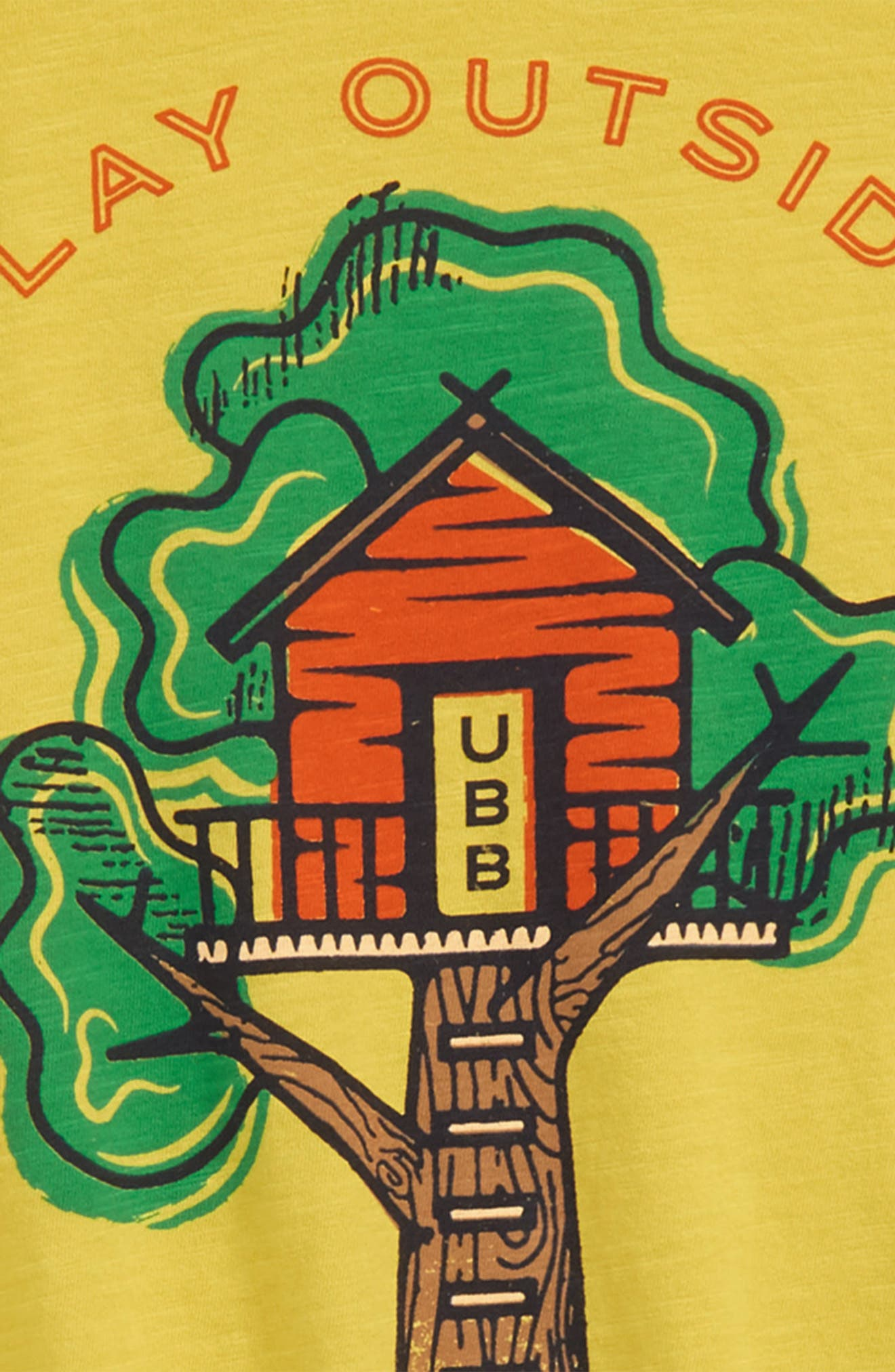 Treehouse Organic Cotton T-Shirt,                             Alternate thumbnail 2, color,                             Yellow