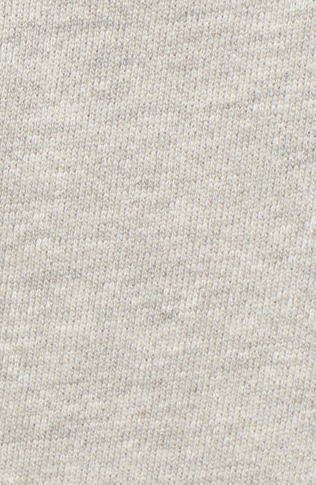 Off-Duty Cotton Knit Drawstring Skirt,                             Alternate thumbnail 4, color,                             Grey Heather