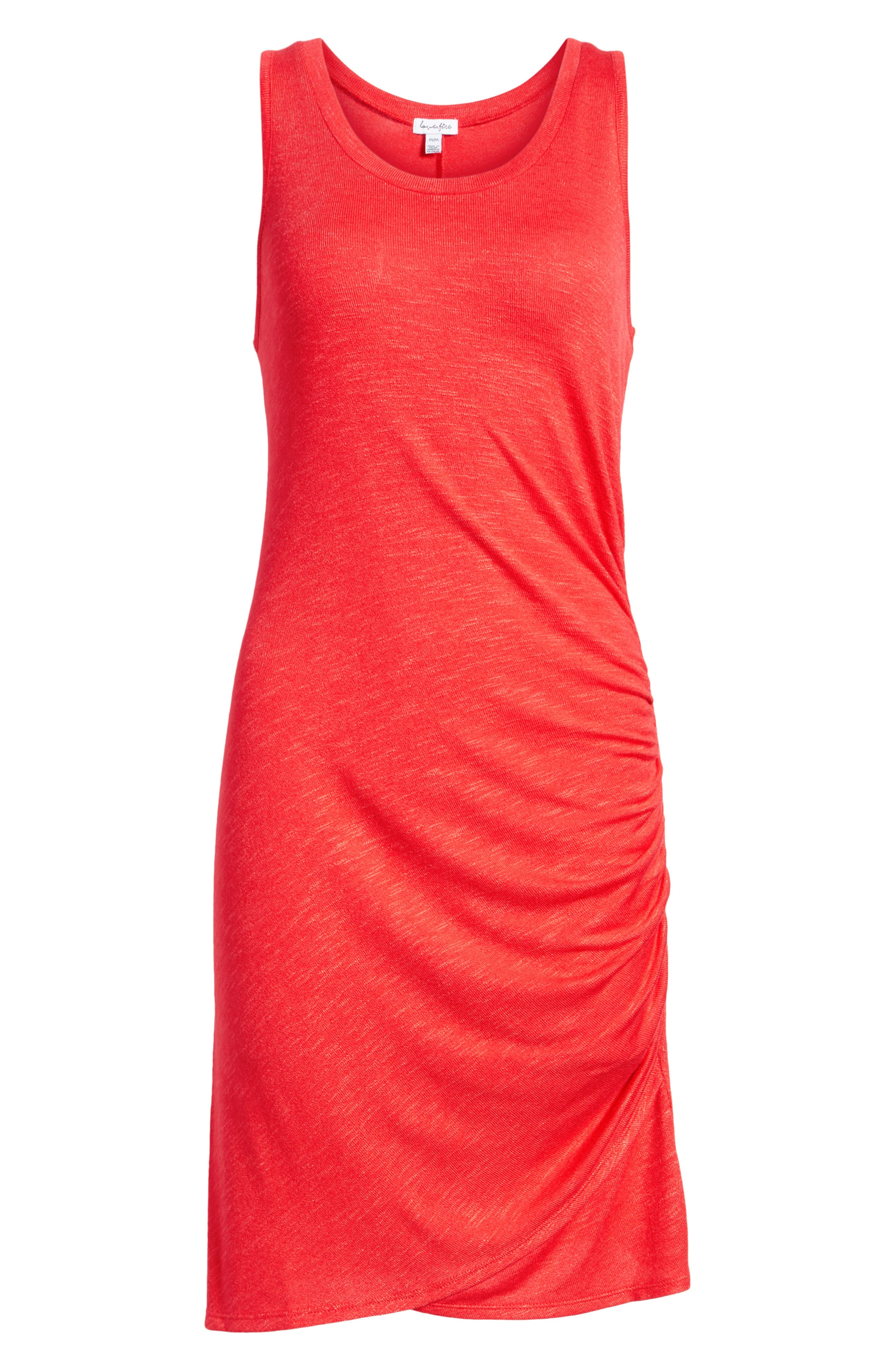 Ruched Minidress,                             Alternate thumbnail 7, color,                             Red