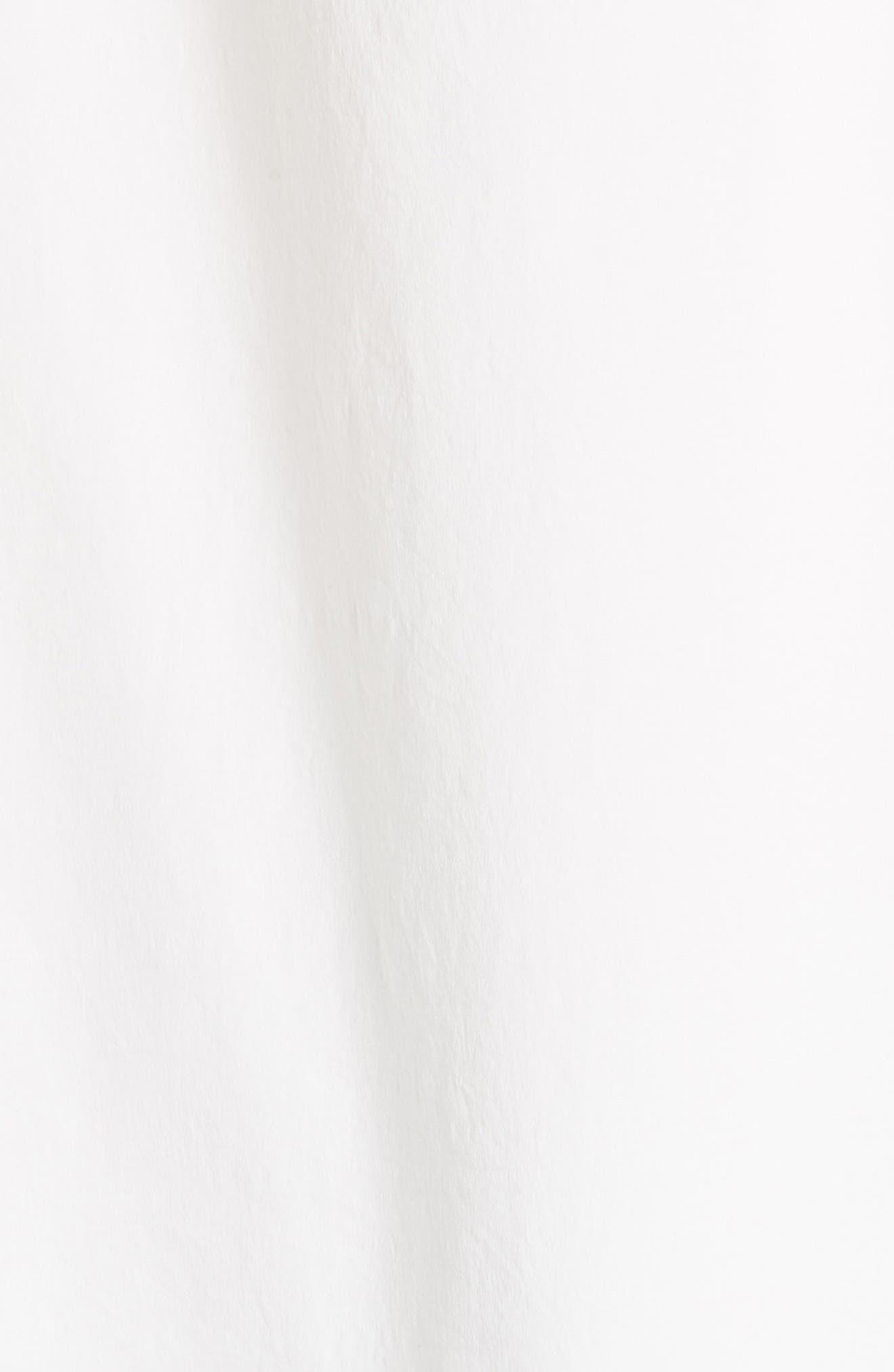 Hailey Short Sleeve Blouse Top,                             Alternate thumbnail 5, color,                             Cotton White