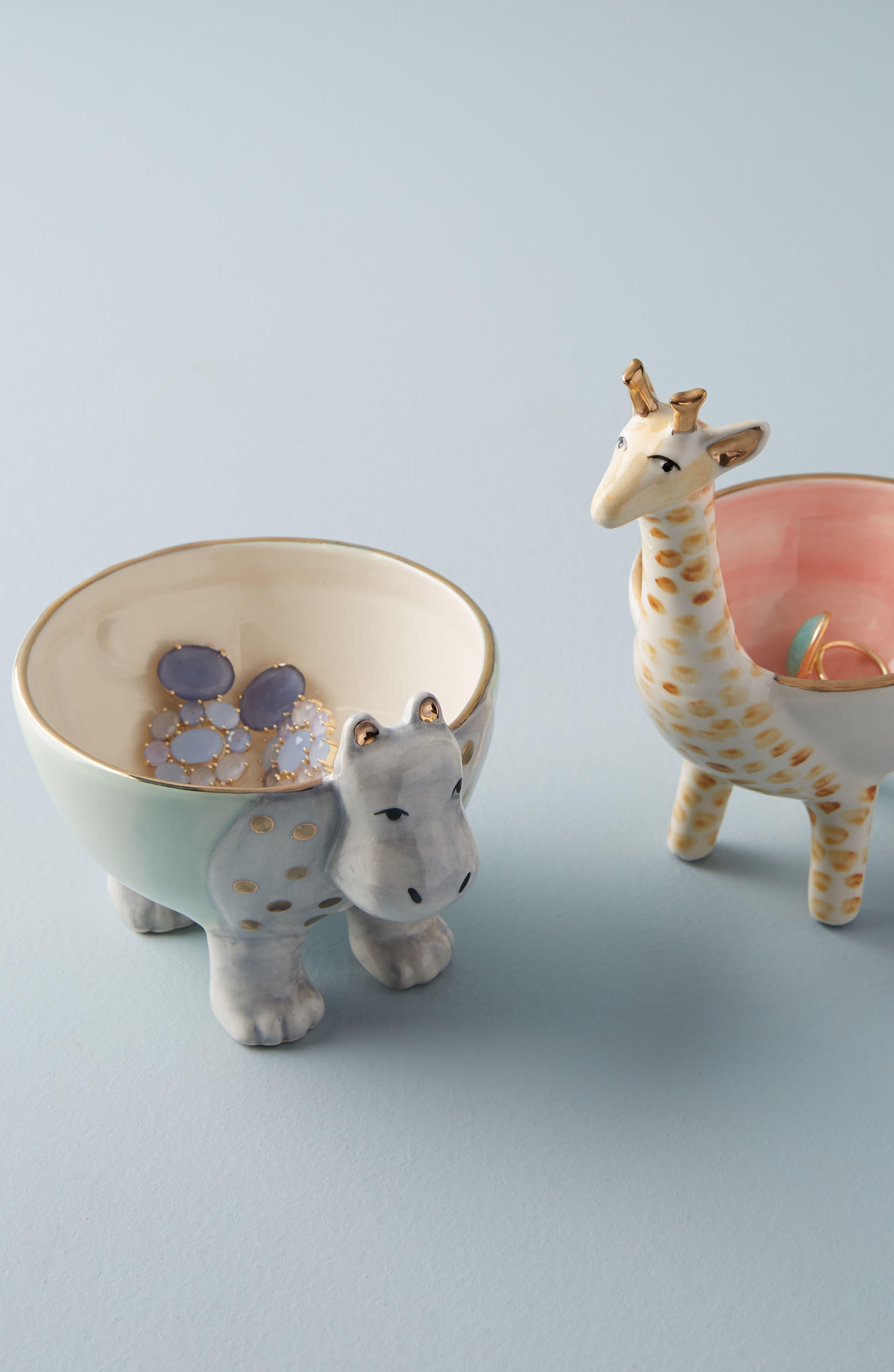 Sweet Safari Trinket Dish,                             Alternate thumbnail 3, color,                             Hippo