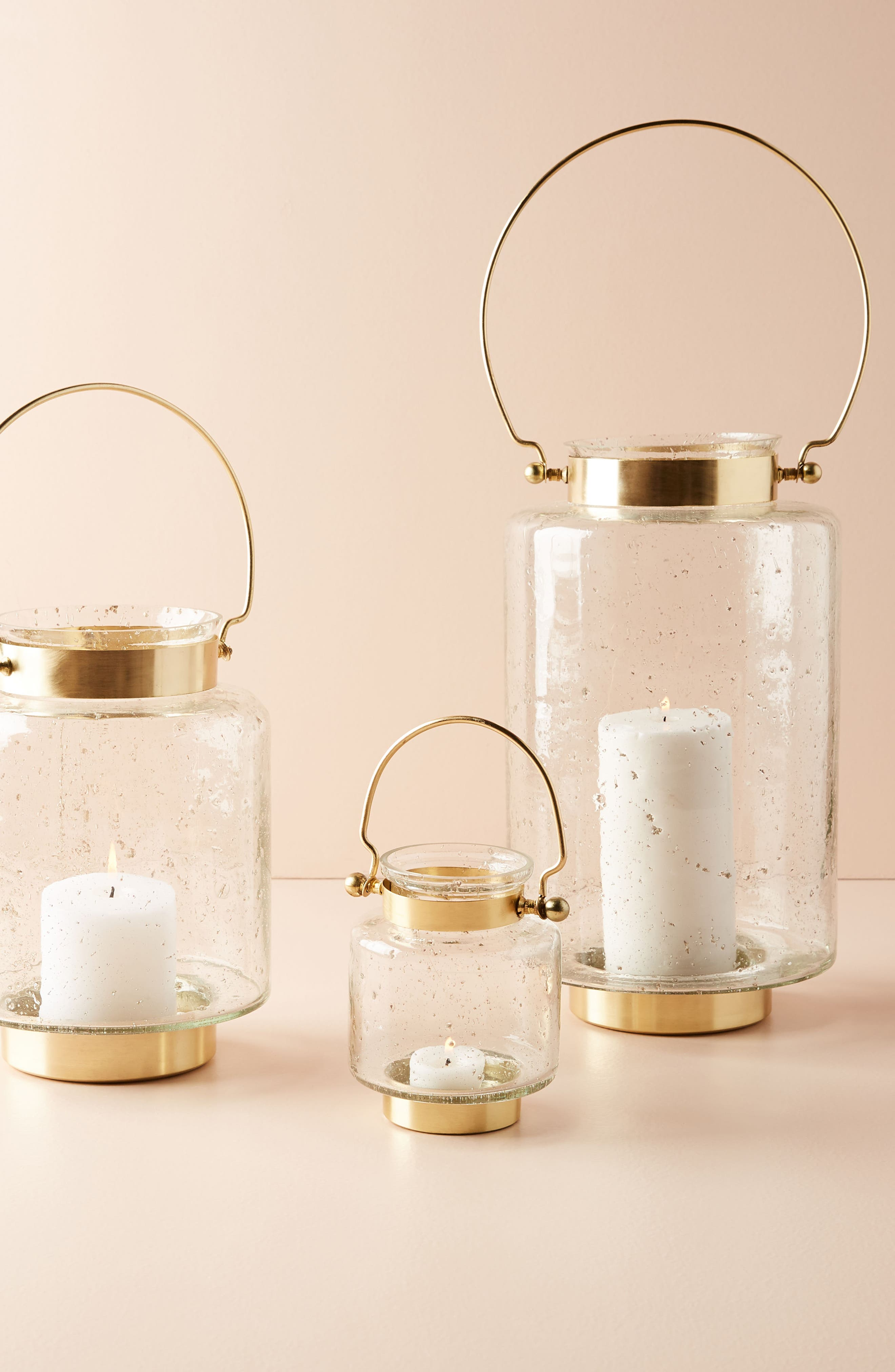 Gilded Lantern Votive Candleholder,                             Alternate thumbnail 3, color,                             Gold