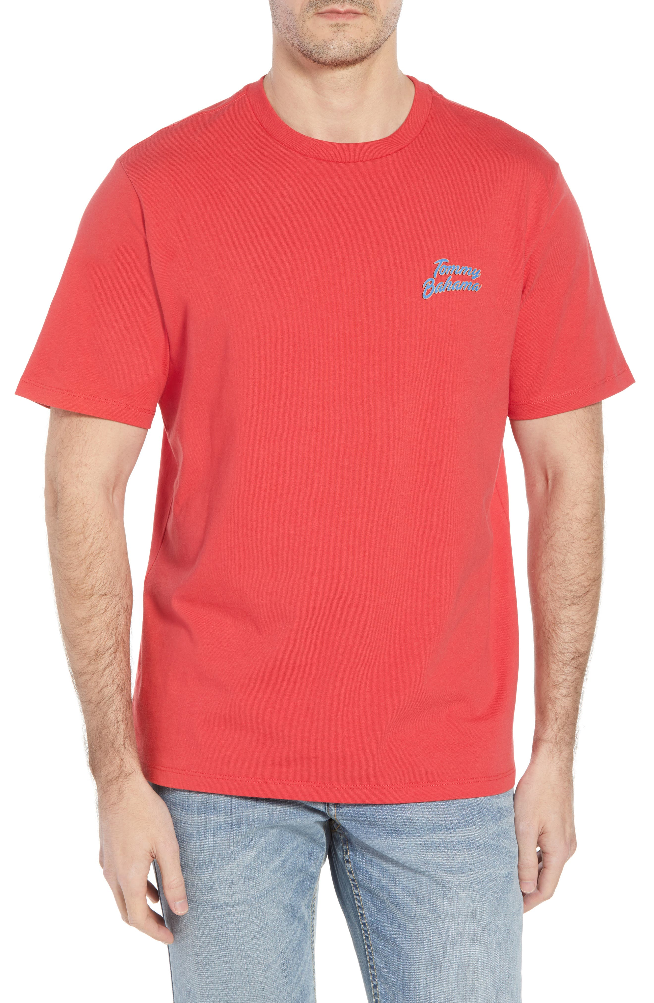 Thirst Base T-Shirt,                         Main,                         color, Lucky Red