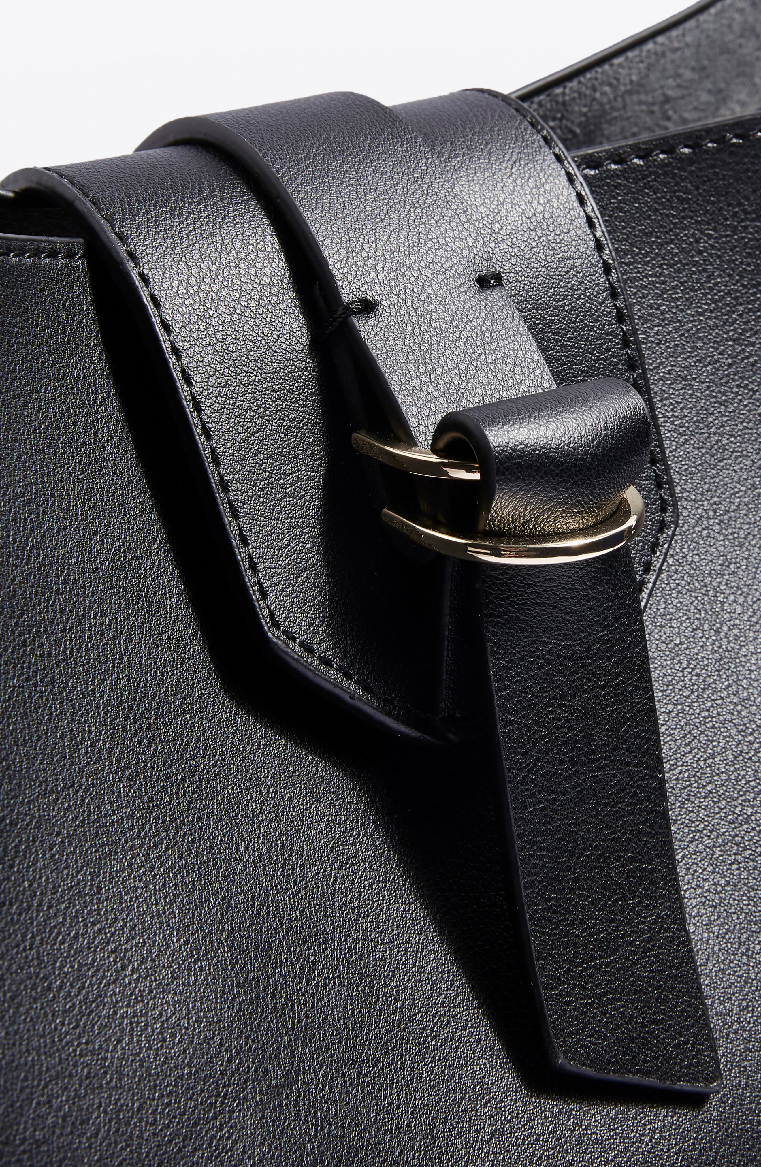 Hampton Hobo Bag,                             Alternate thumbnail 4, color,                             Black