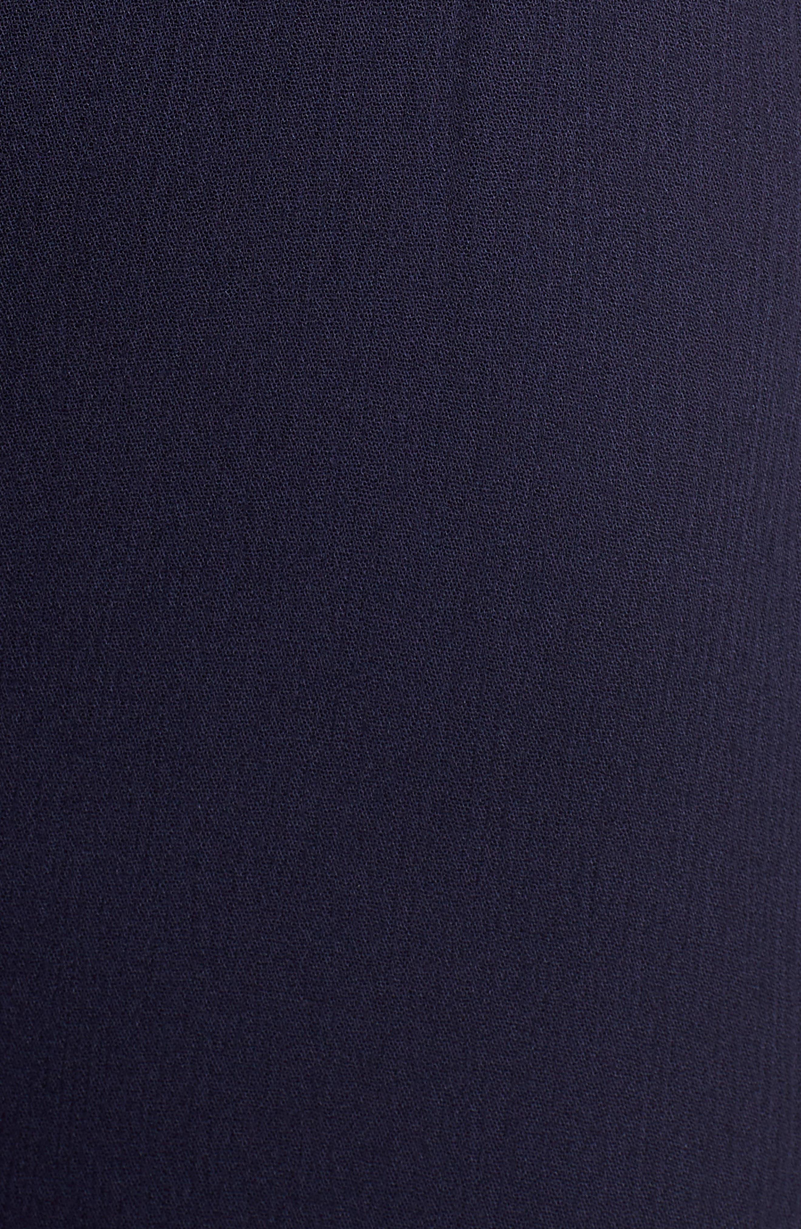 Gabriella Tie Waist Midi Dress,                             Alternate thumbnail 3, color,                             Azure