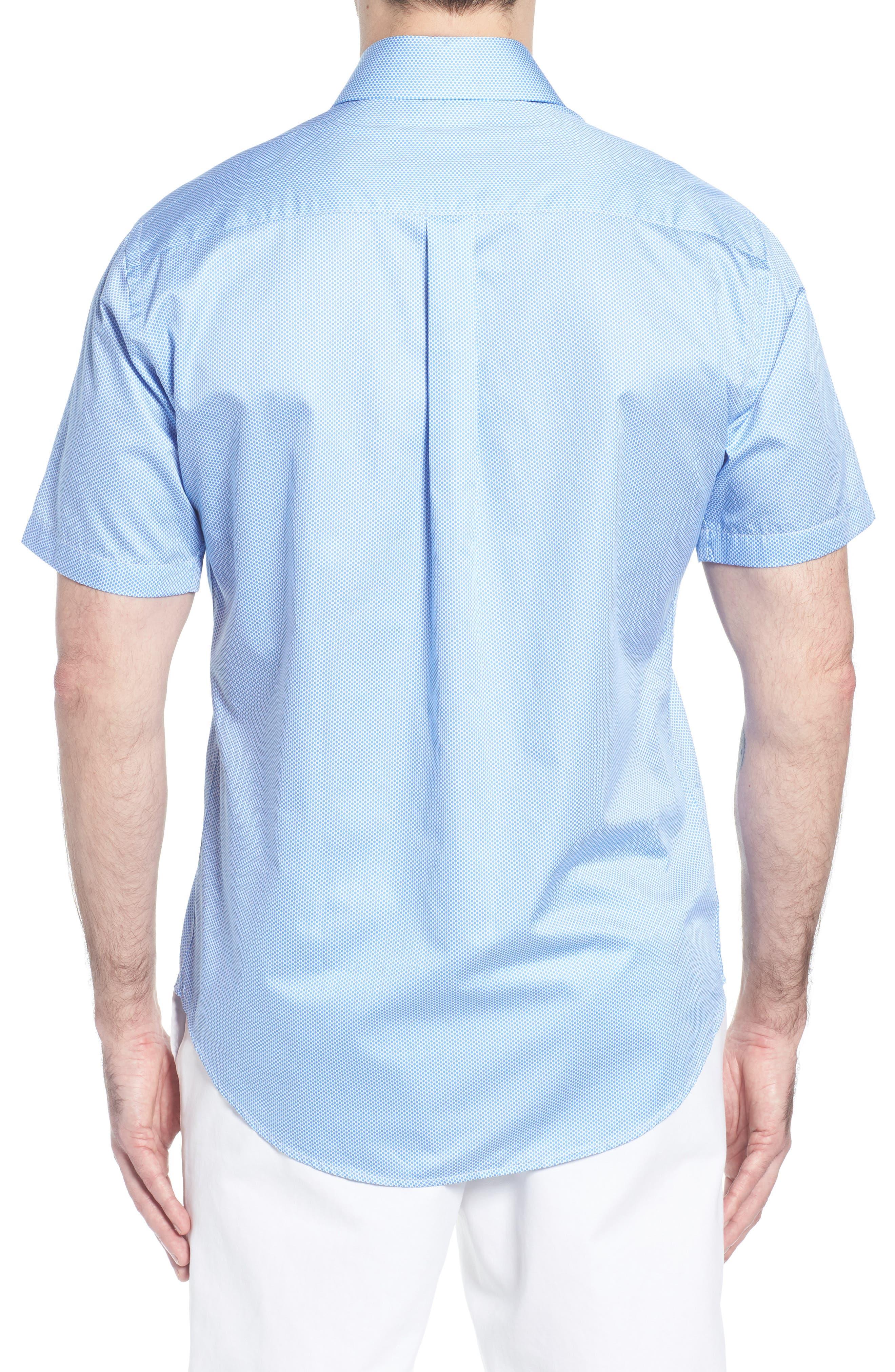 Crown Ease Connecting the Dots Sport Shirt,                             Alternate thumbnail 3, color,                             Atlas Blue
