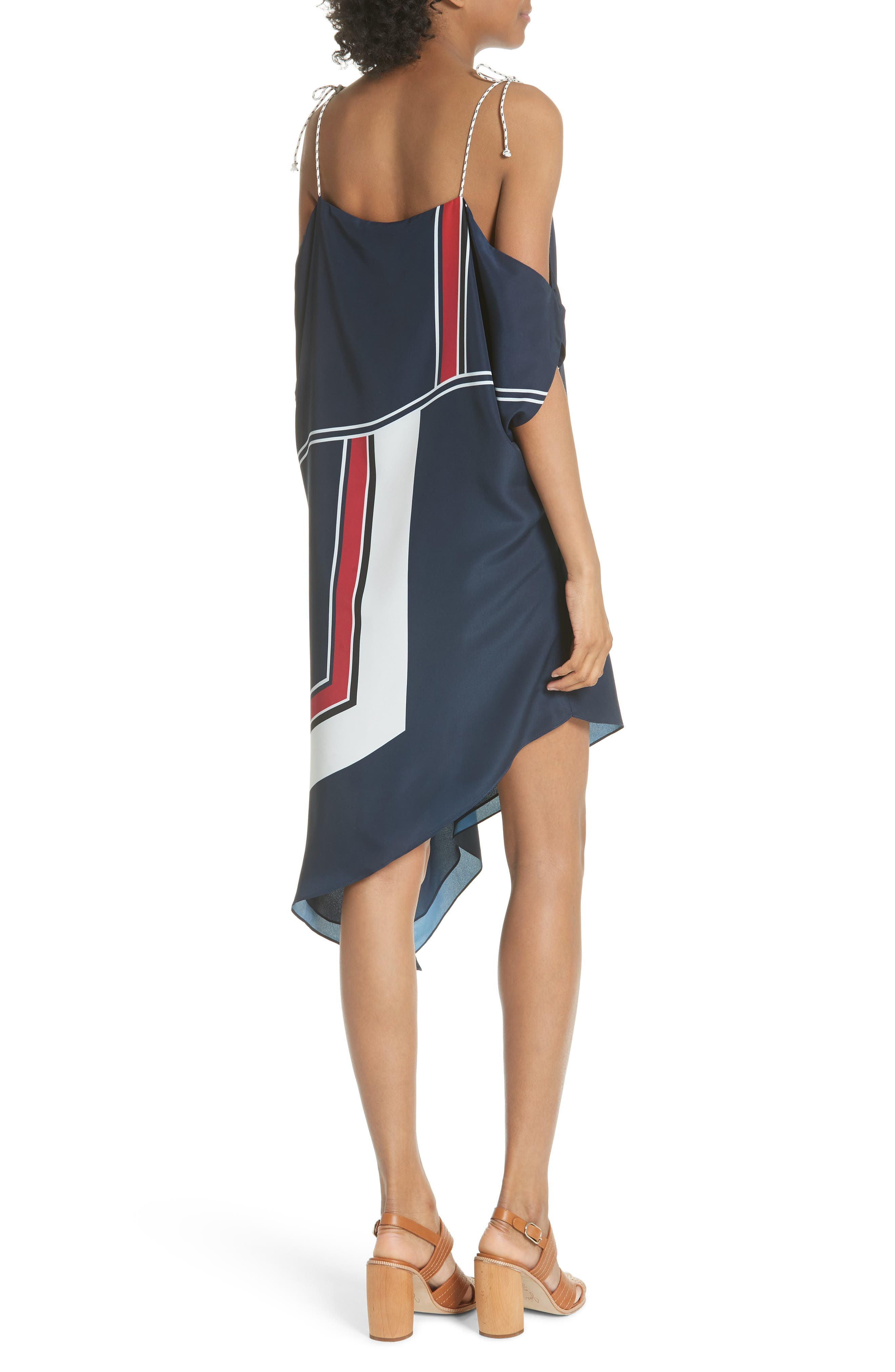 Edyte Asymmetrical Dress,                             Alternate thumbnail 2, color,                             Dark Navy
