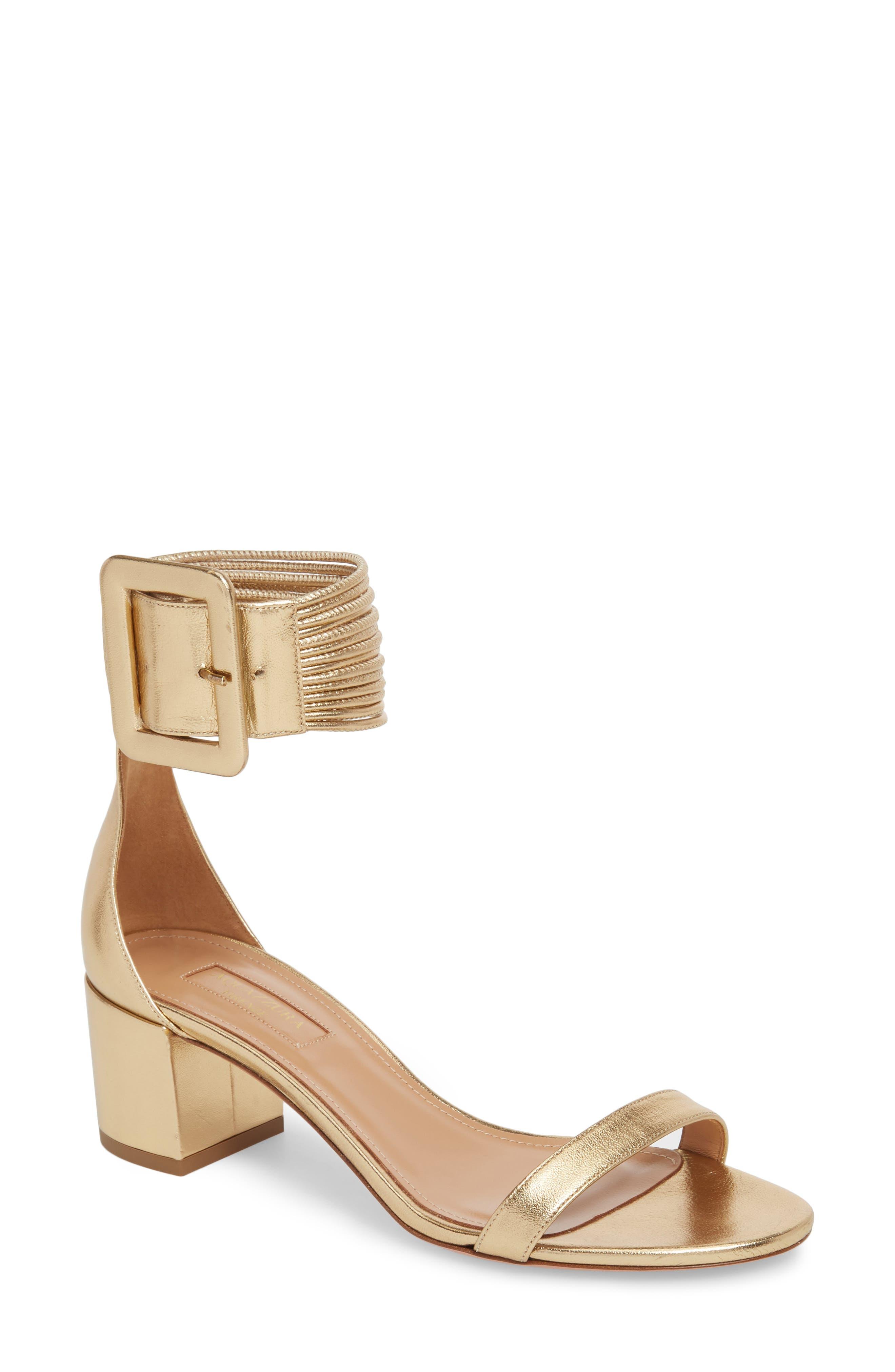 Casablanca Ankle Cuff Sandal,                             Main thumbnail 1, color,                             Soft Gold