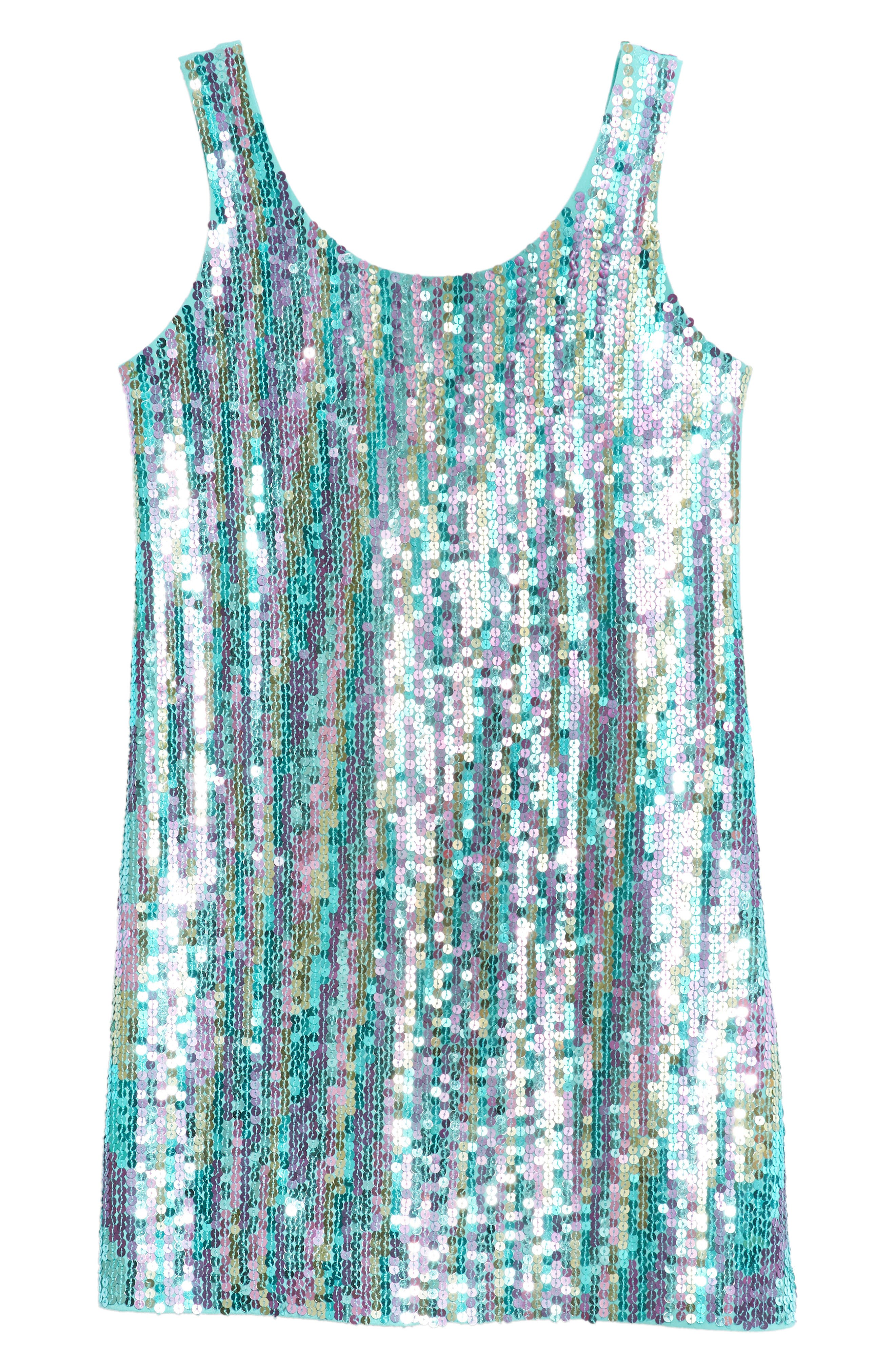 Flowers by Zoe Sequin Front Tank Dress (Big Girls)