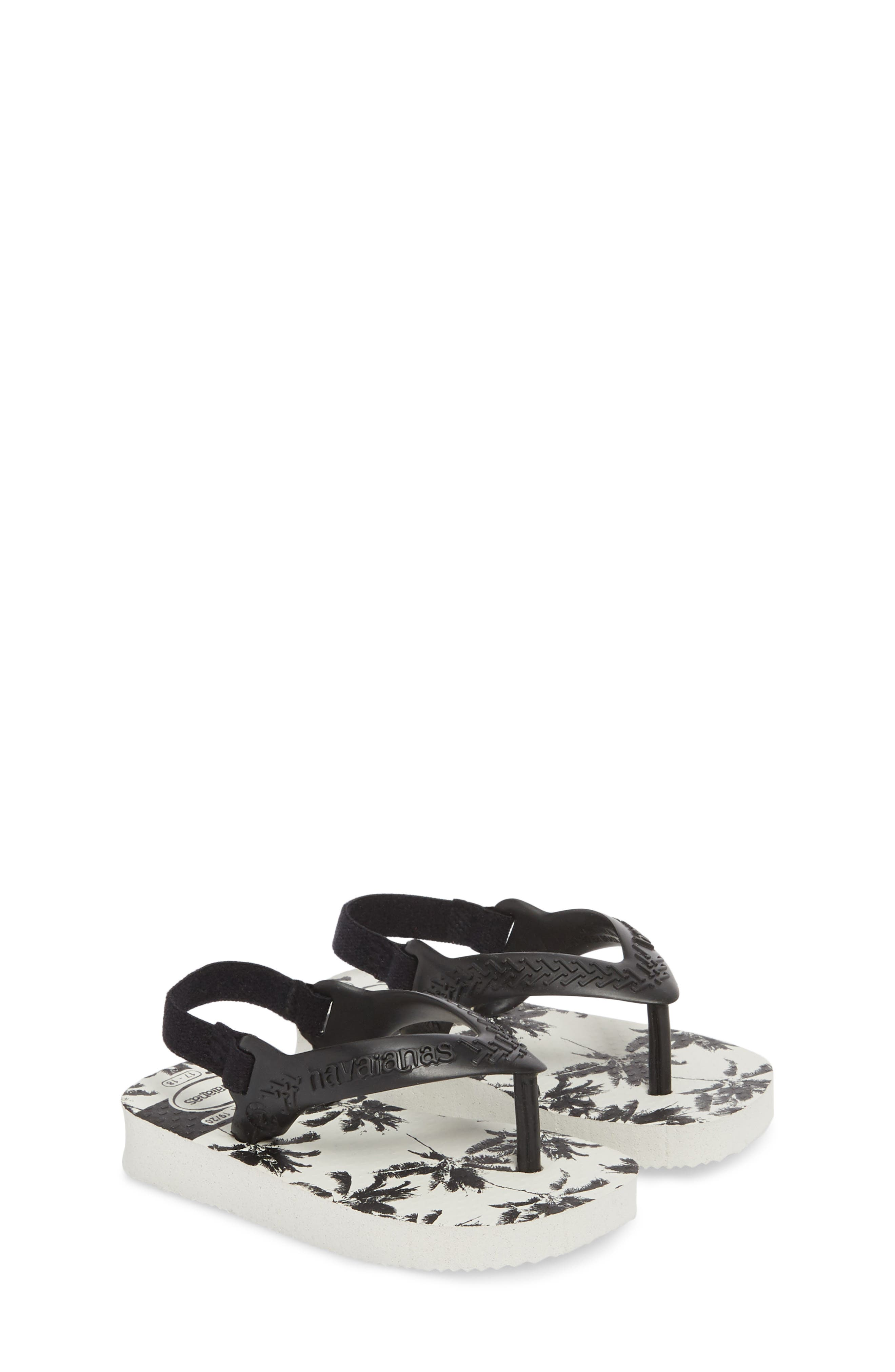 Havianas Baby Chic Sandal,                             Alternate thumbnail 3, color,                             White/ Black/ Black