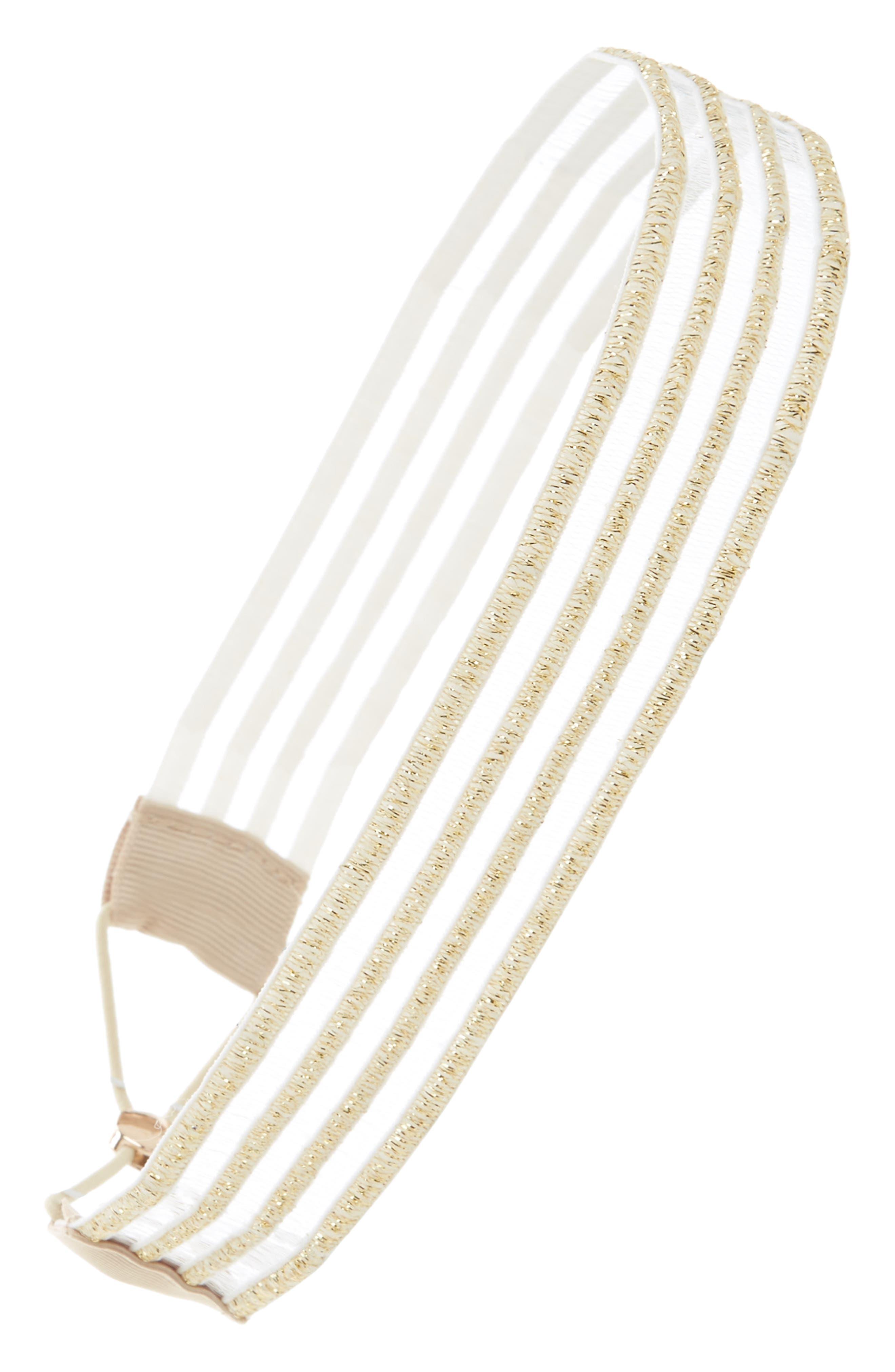 Mod Mesh Head Wrap,                         Main,                         color, Gold Metallic