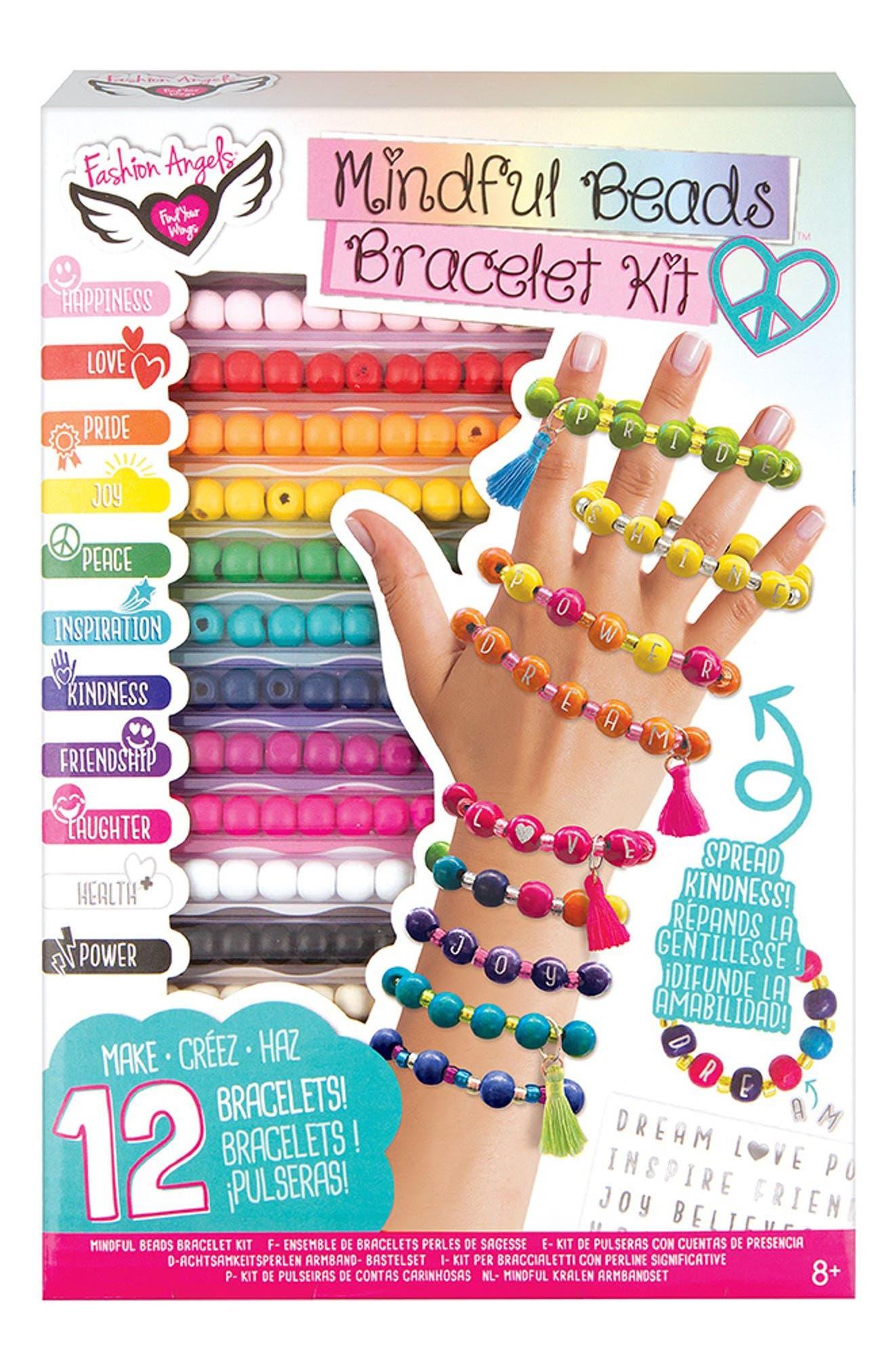 Mindful Bead Bracelet Kit,                             Main thumbnail 1, color,                             Multi