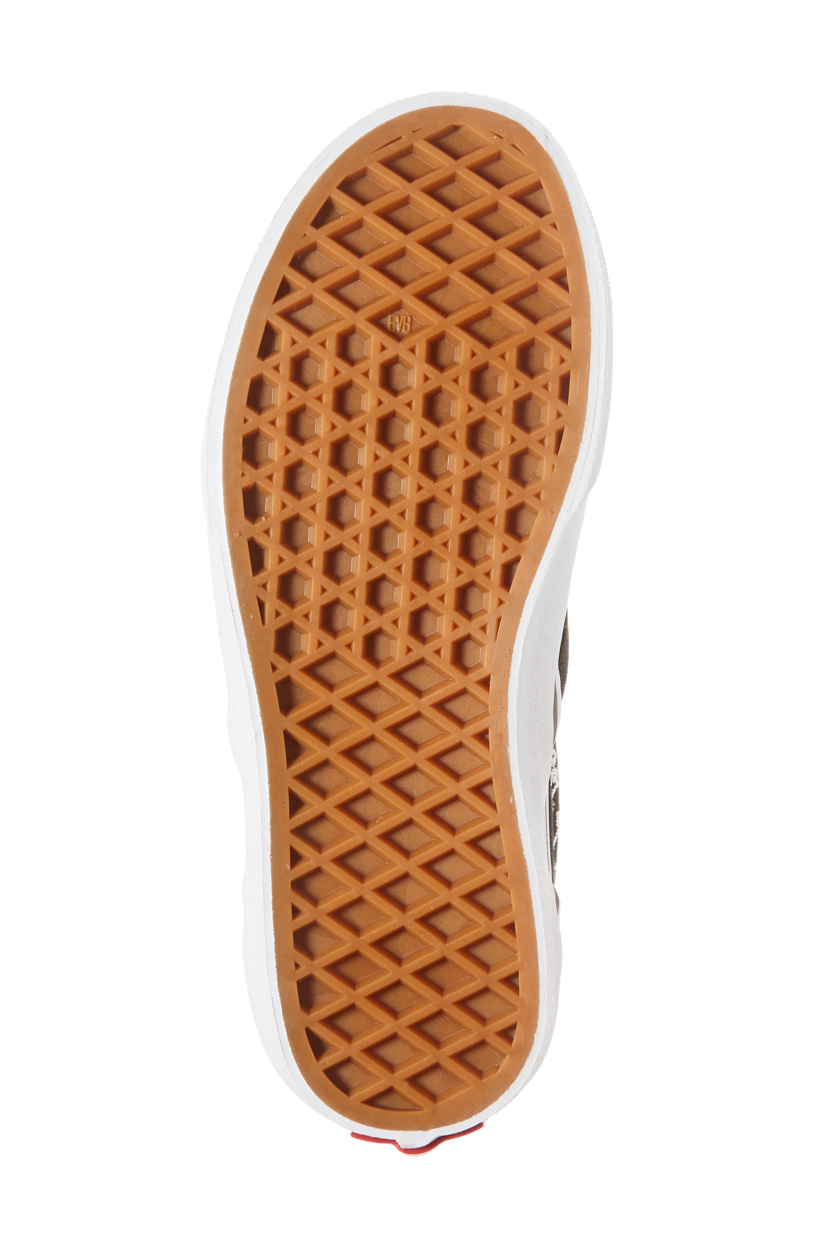 'Classic' Slip-On Sneaker,                             Alternate thumbnail 6, color,                             Black