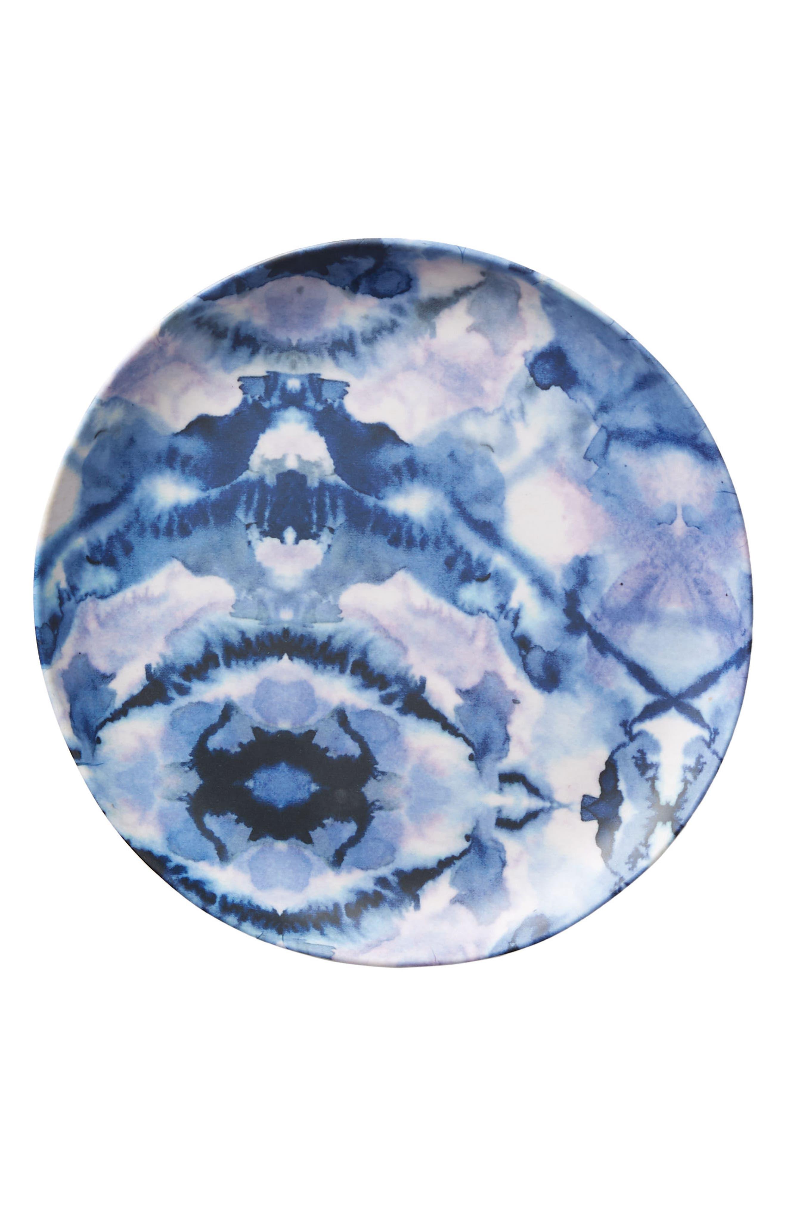Mesa Melamine Plate,                             Alternate thumbnail 3, color,                             Blue Combo