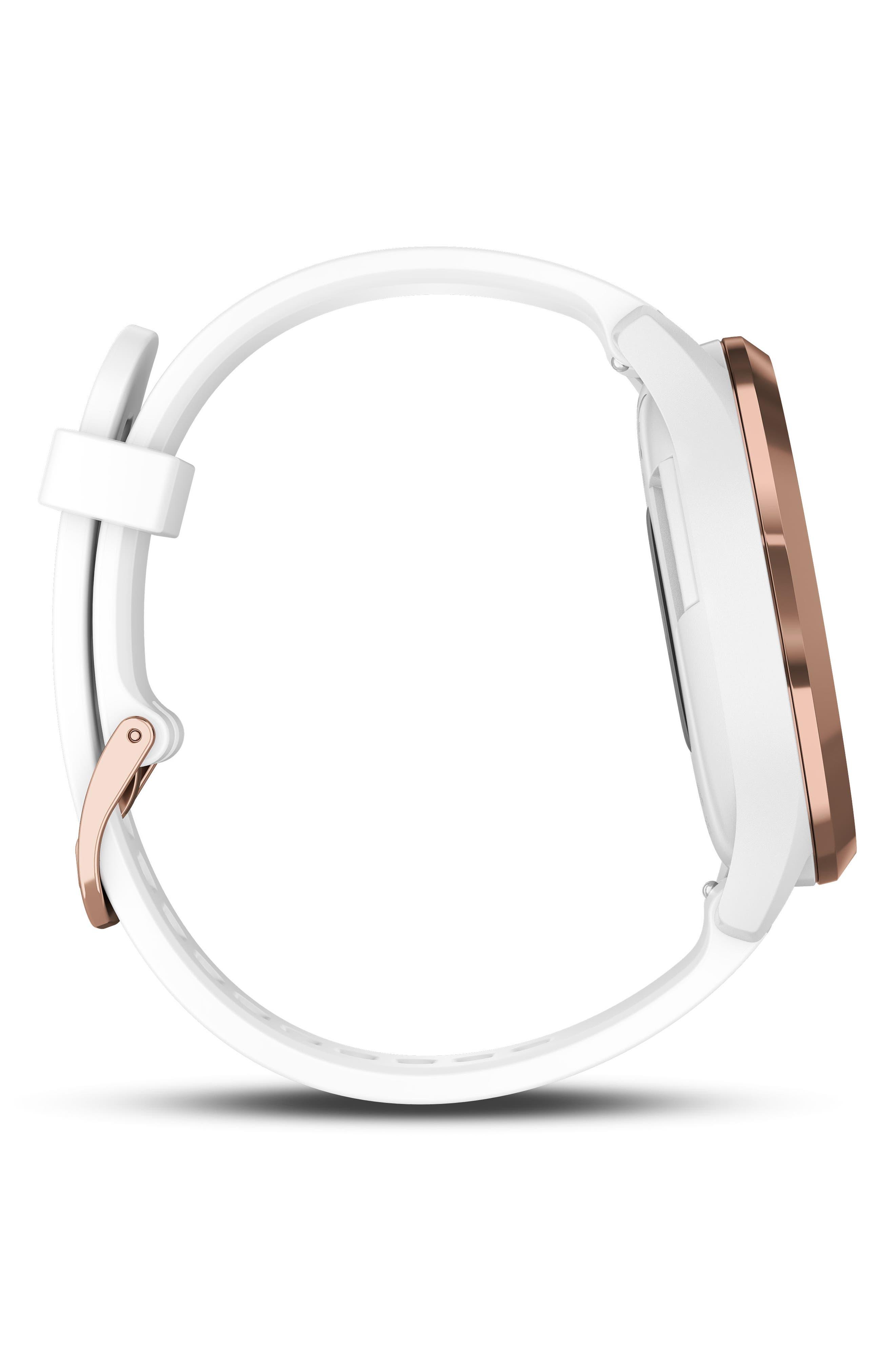 Vivomove HR Large Sport Hybrid Smart Watch,                             Alternate thumbnail 8, color,                             White/ Rose Gold/ Rose Gold