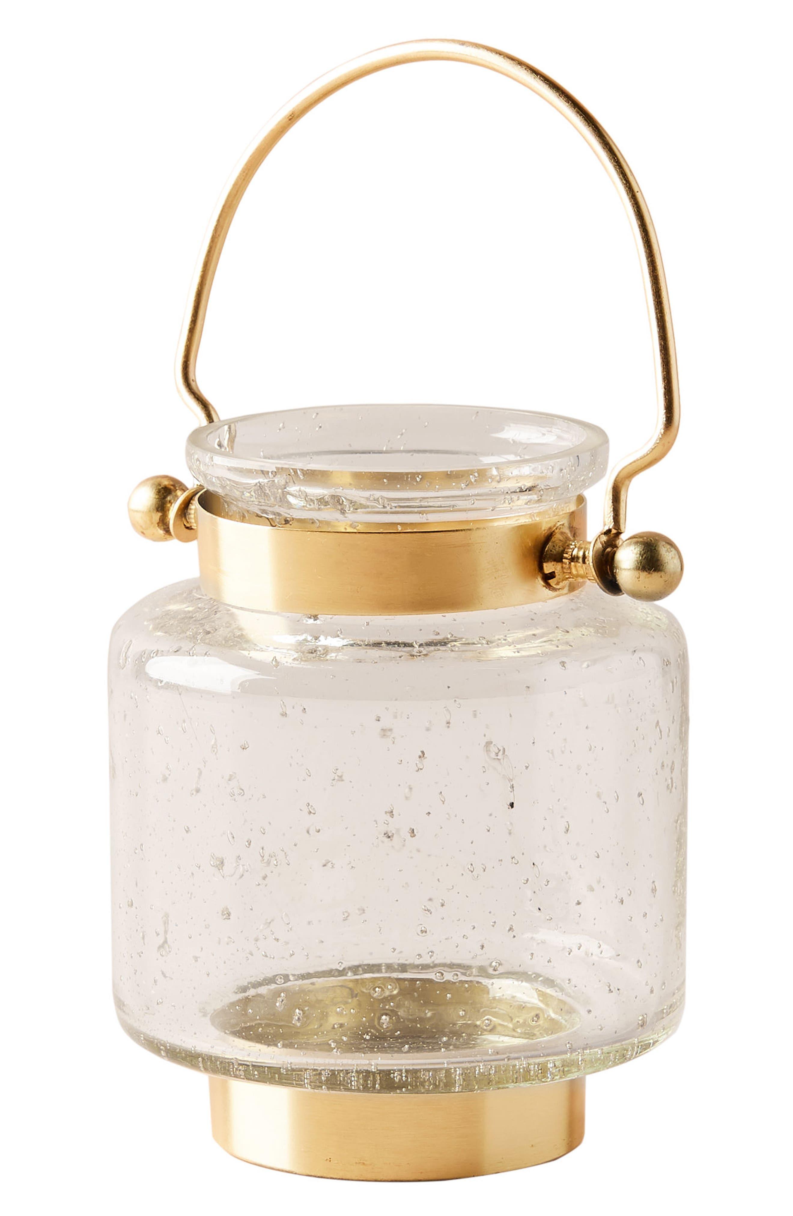 Gilded Lantern Votive Candleholder,                             Alternate thumbnail 4, color,                             Gold