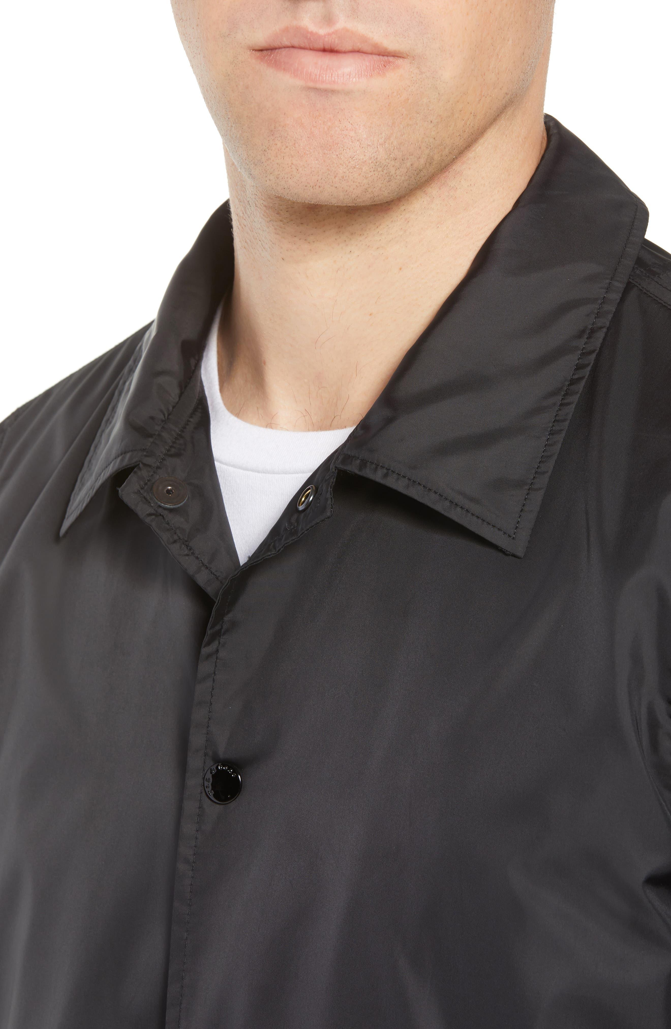 Coaches Jacket,                             Alternate thumbnail 4, color,                             Black