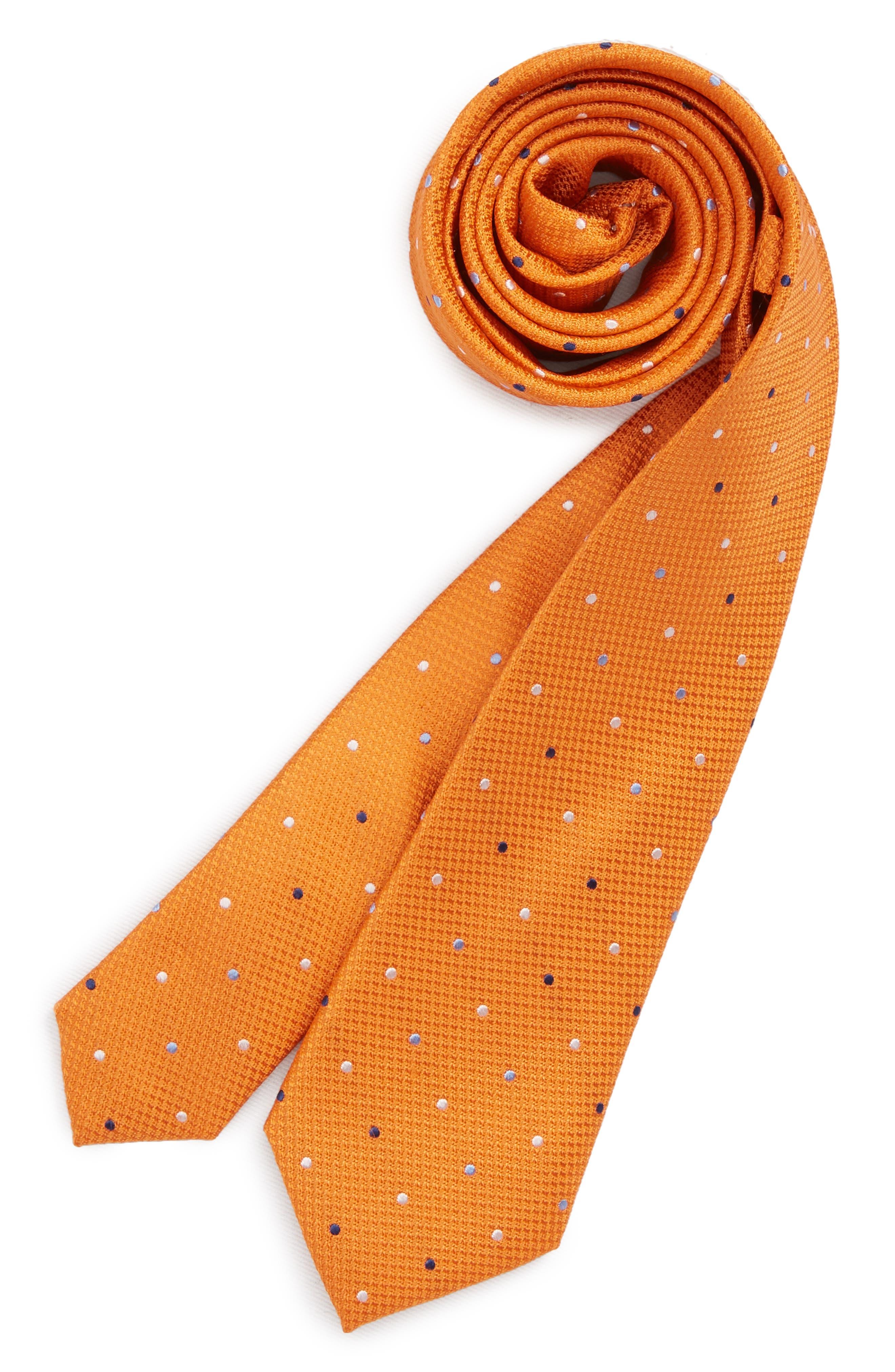 Nordstrom Texture Dot Silk Tie (Big Boys)