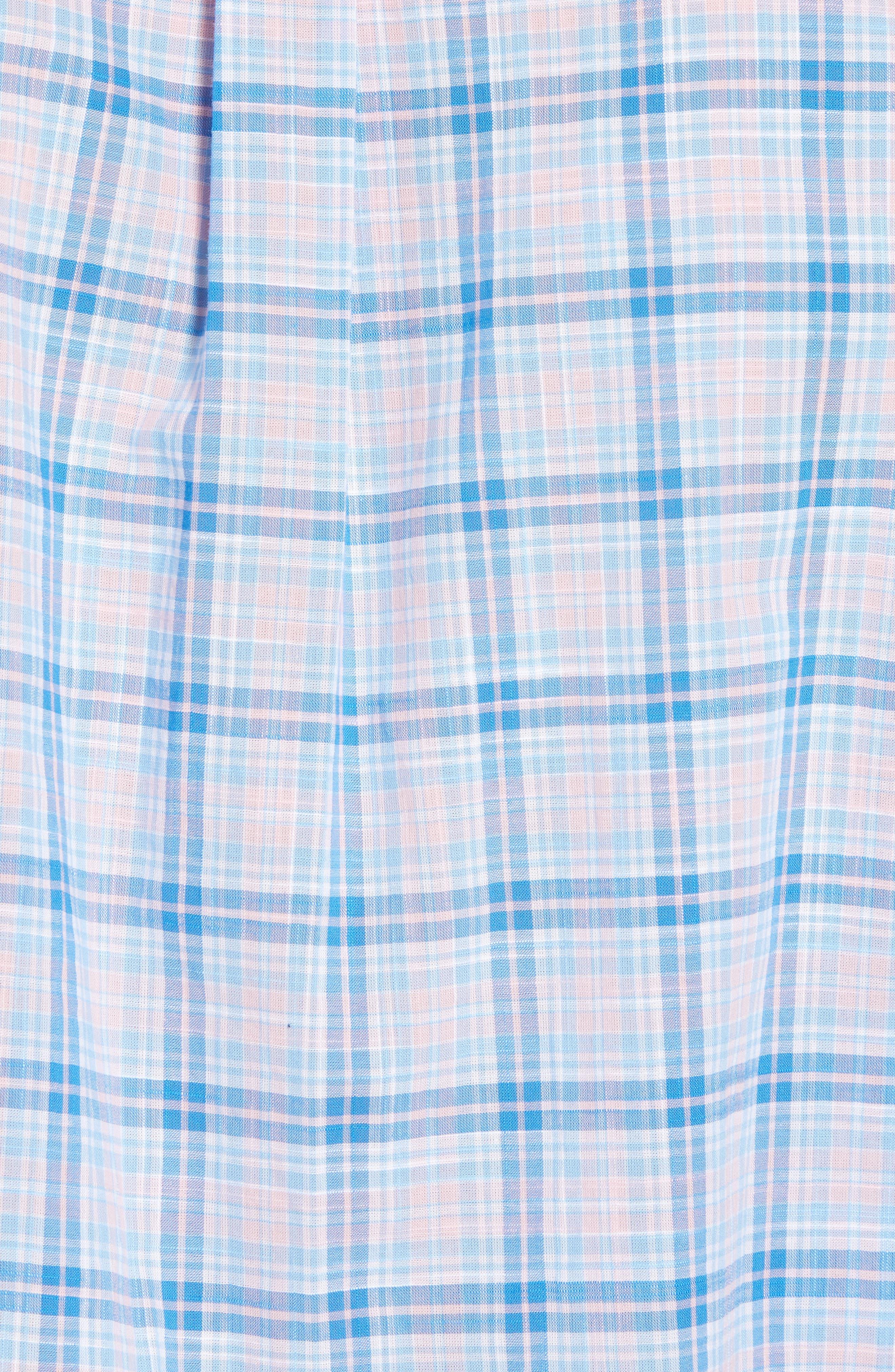 Stoney Hill Tucker Classic Fit Plaid Sport Shirt,                             Alternate thumbnail 5, color,                             Hibiscus