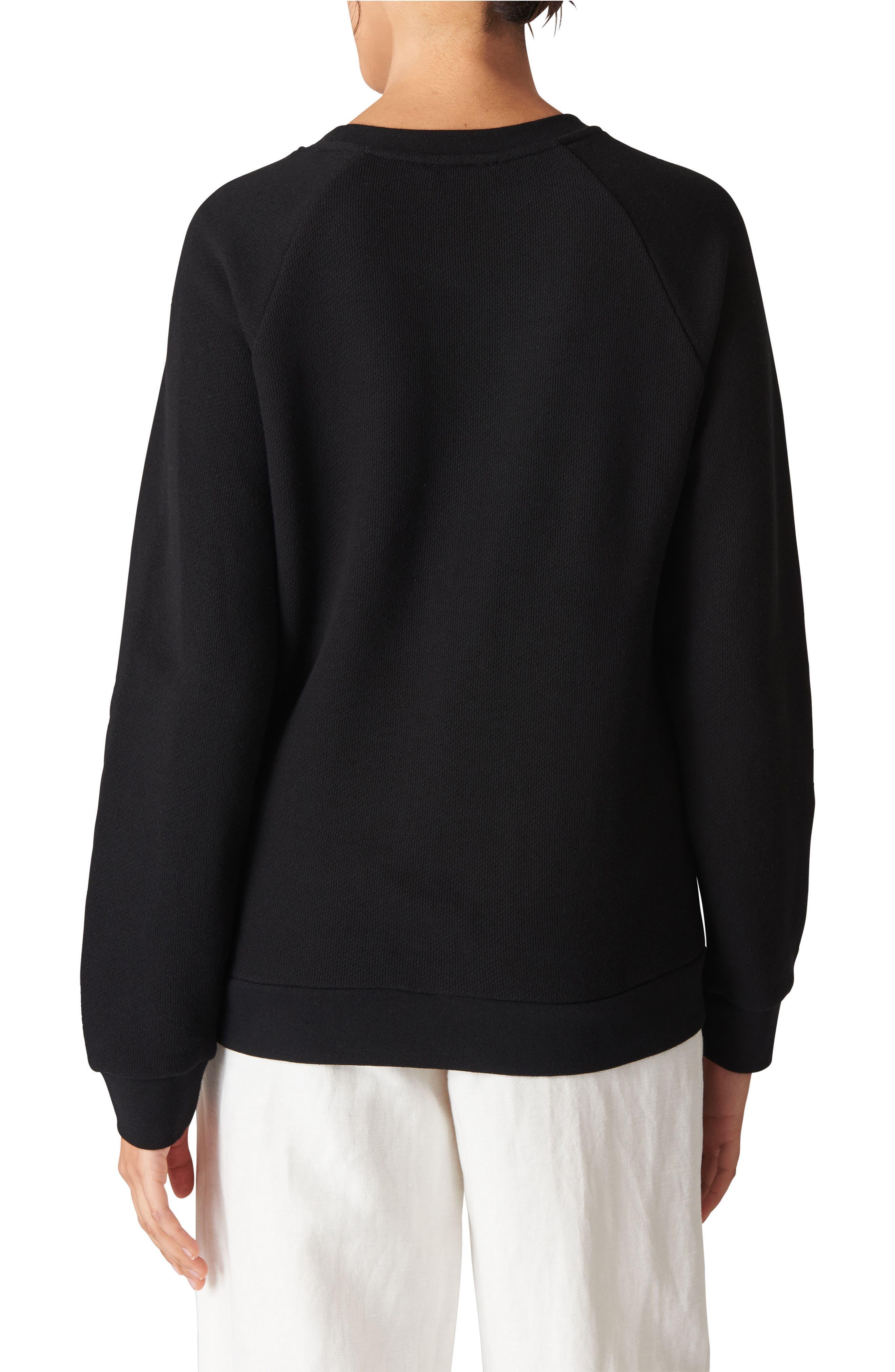 Love Embroidered Sweatshirt,                             Alternate thumbnail 2, color,                             Black