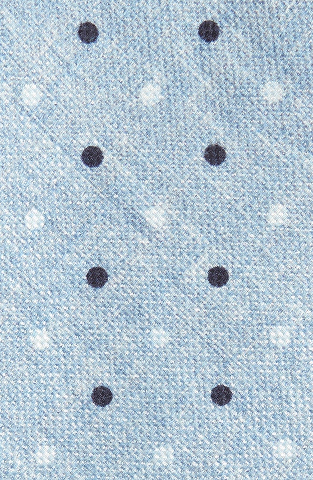 Dot Cotton & Silk Skinny Tie,                             Alternate thumbnail 2, color,                             Blue