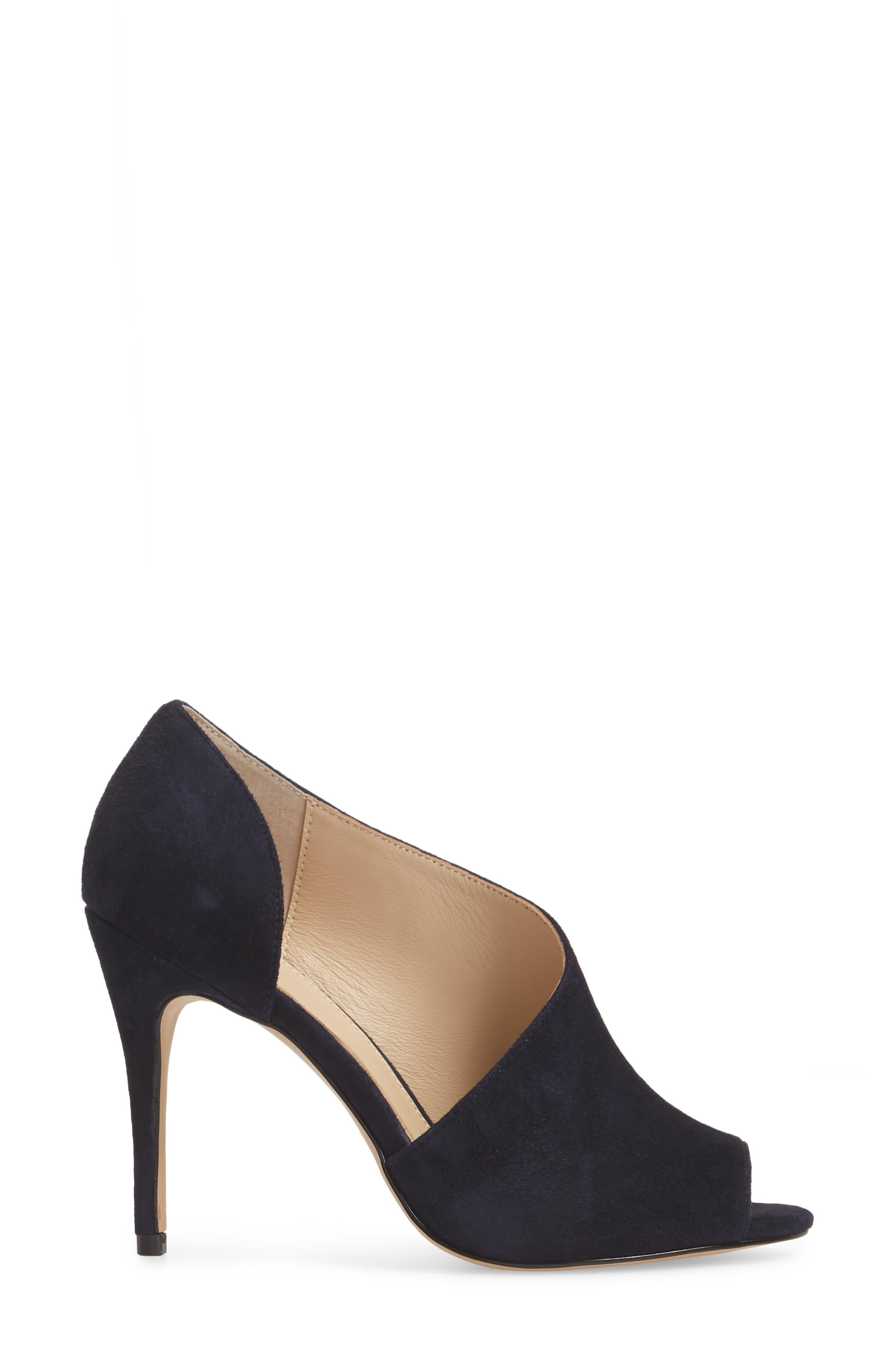 Adelia Asymmetrical Sandal,                             Alternate thumbnail 3, color,                             Navy Suede
