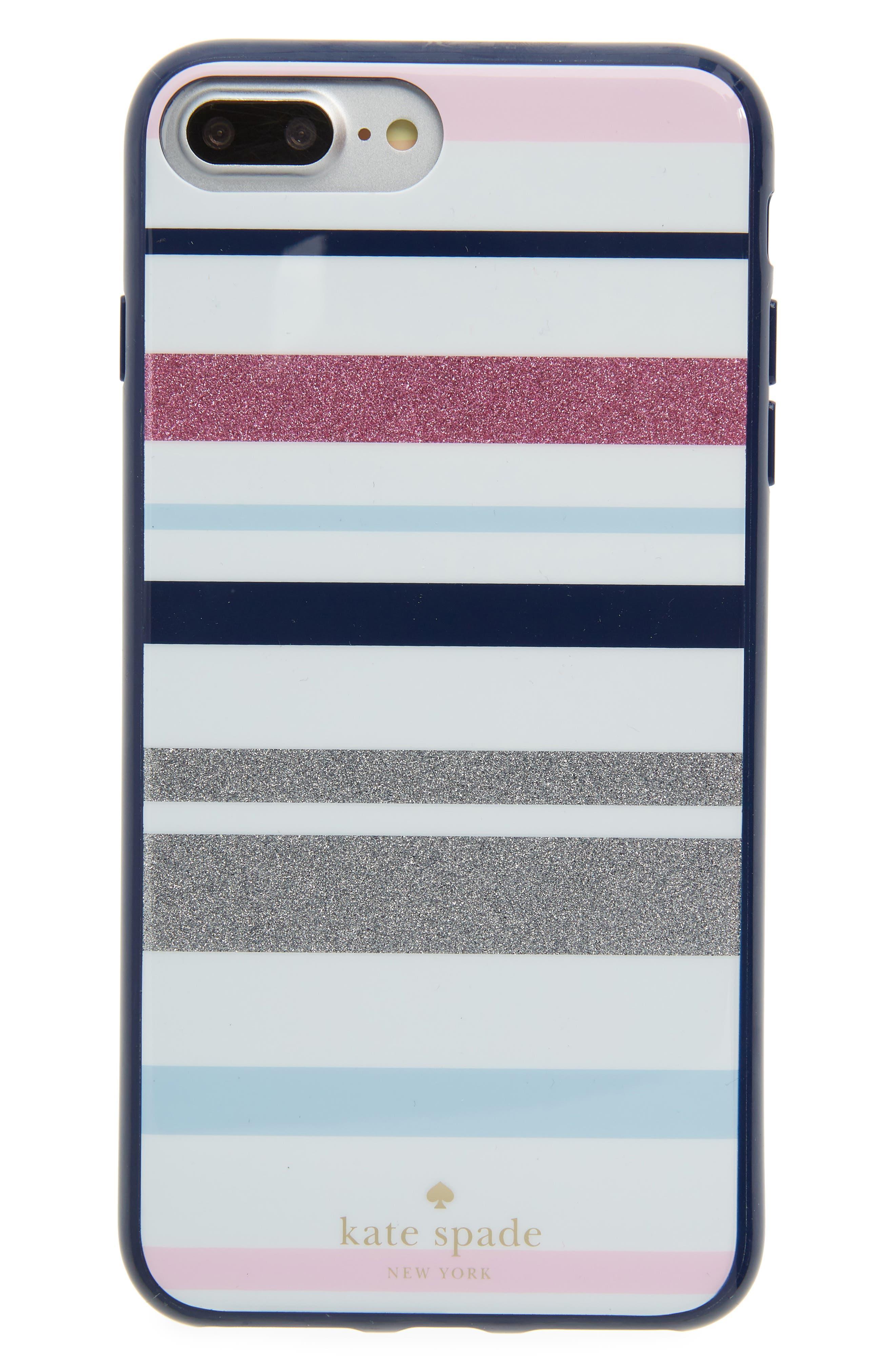desert stripe iPhone 7/8 & 7/8 Plus case,                             Main thumbnail 1, color,                             Blue Multi