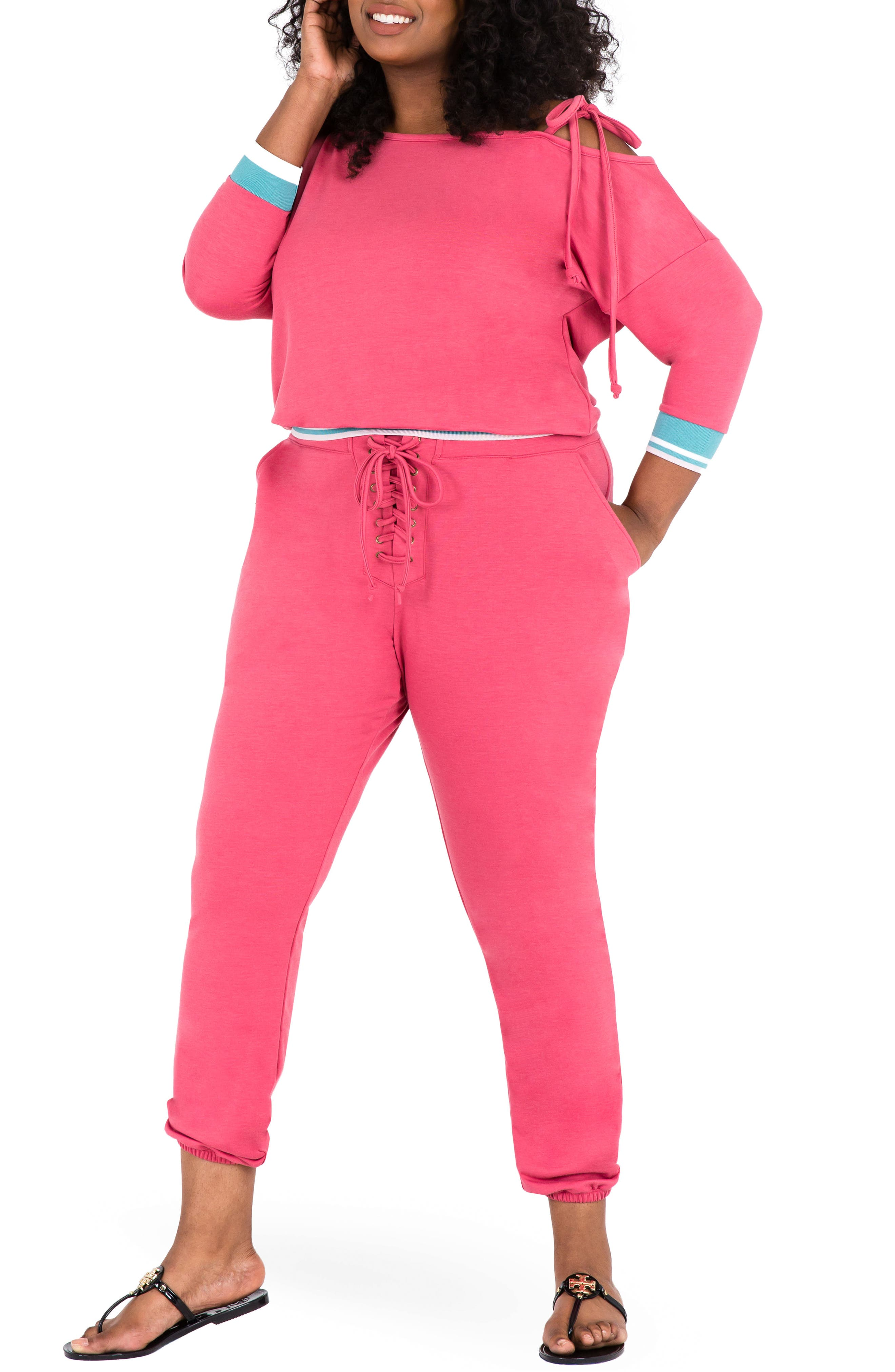 Janae Convertible Knit Top,                             Alternate thumbnail 4, color,                             Deep Rose Pink