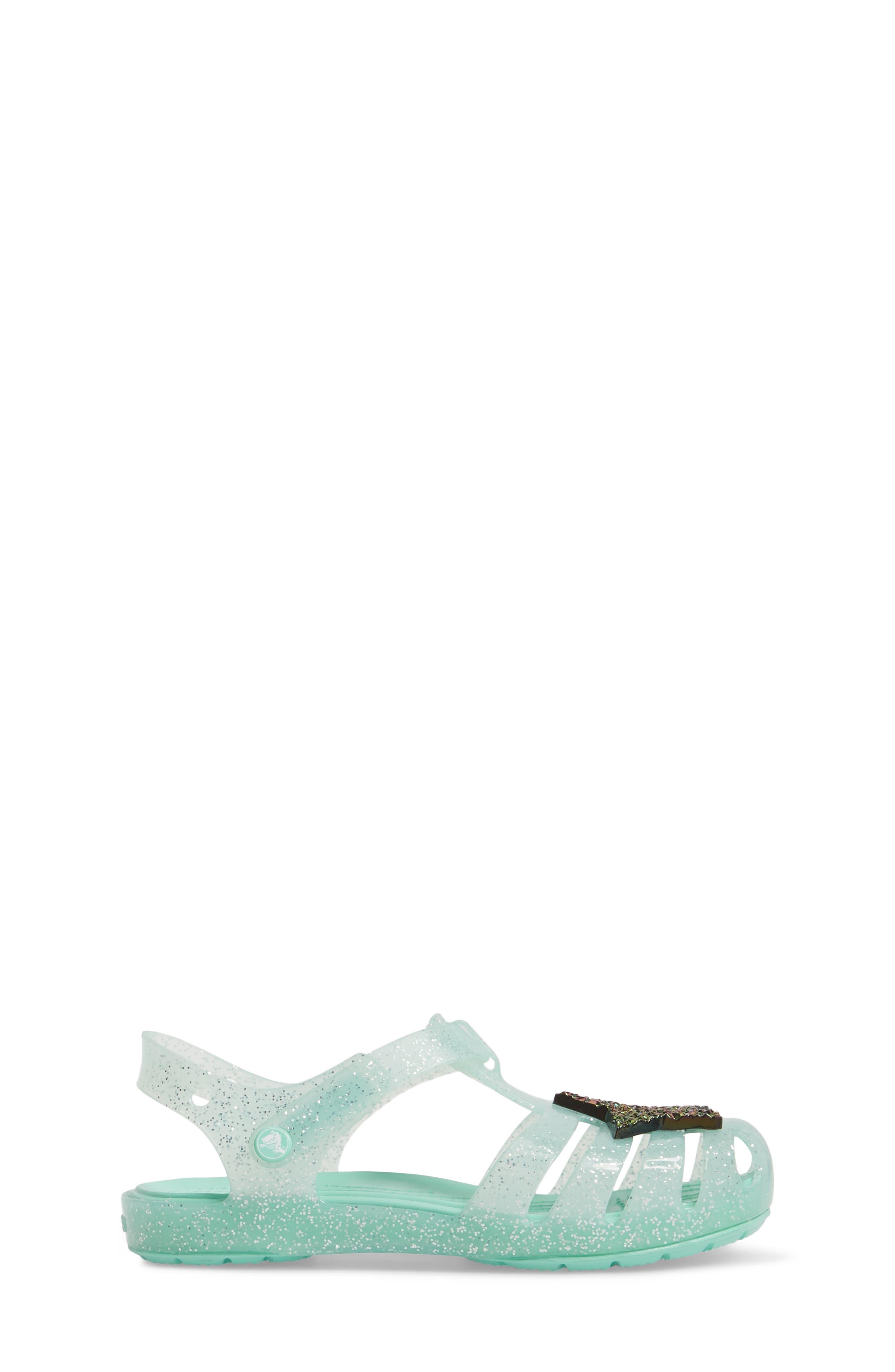 Isabella Glitter Fisherman Sandal,                             Alternate thumbnail 3, color,                             Mint